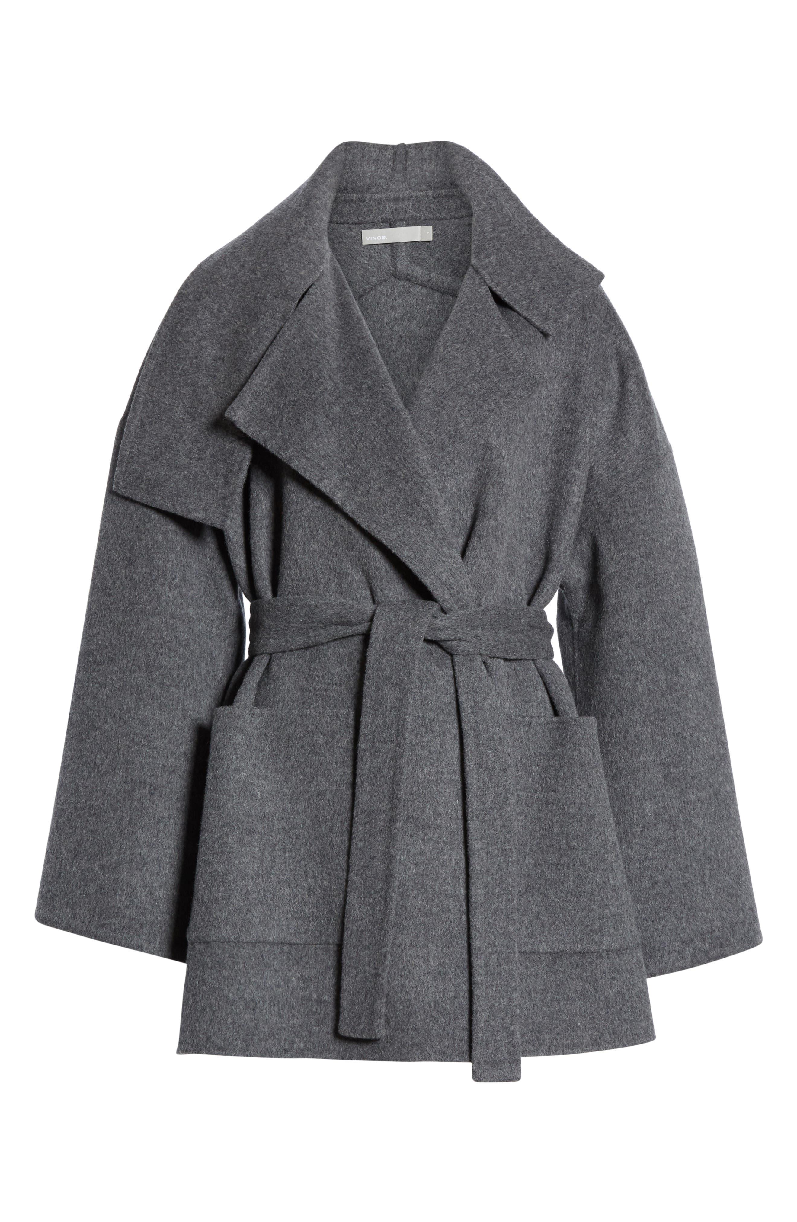 Blanket Coat,                             Alternate thumbnail 6, color,                             H GREY