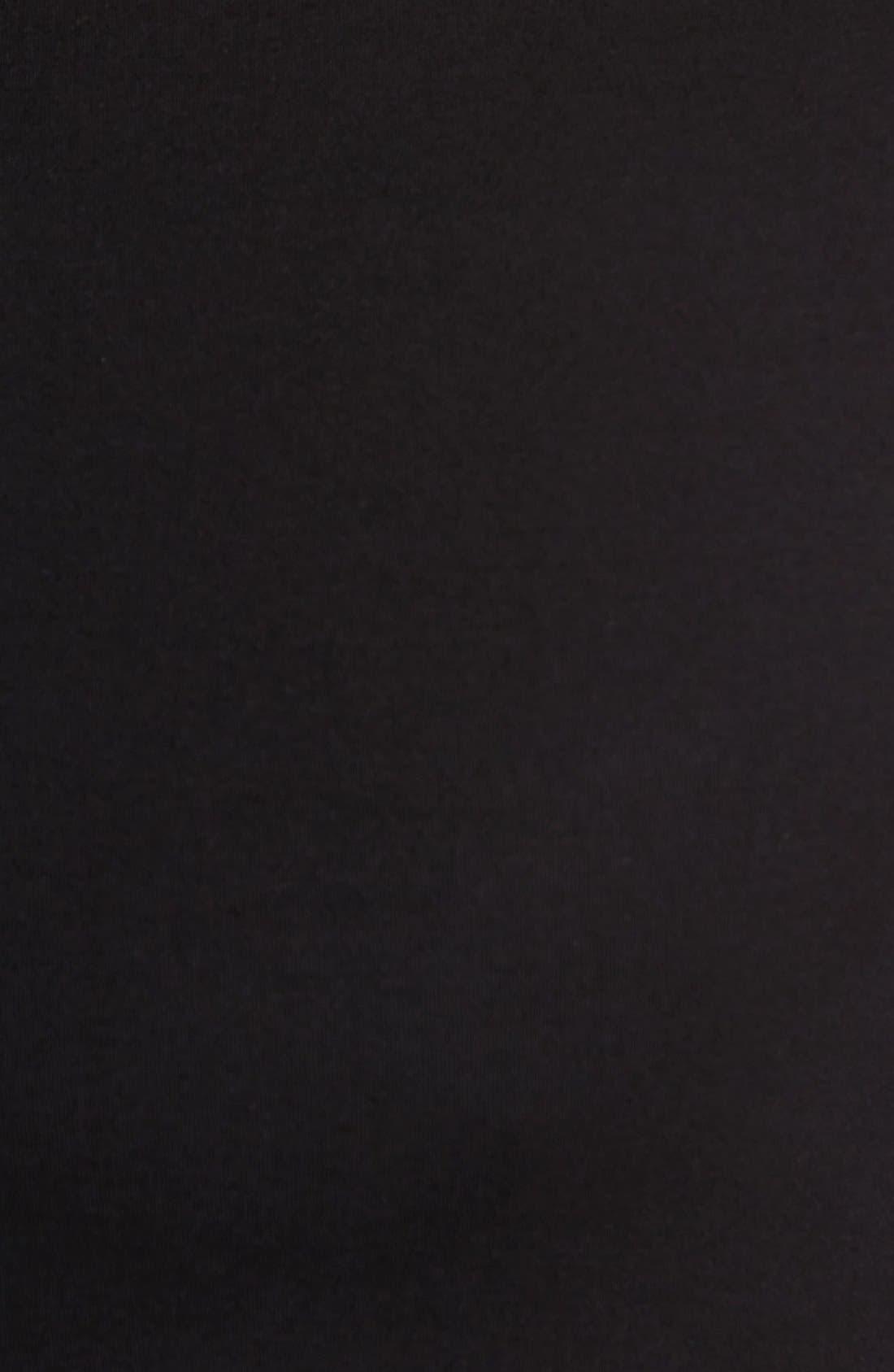 Crewneck Cotton Compression T-Shirt,                             Alternate thumbnail 3, color,                             BLACK