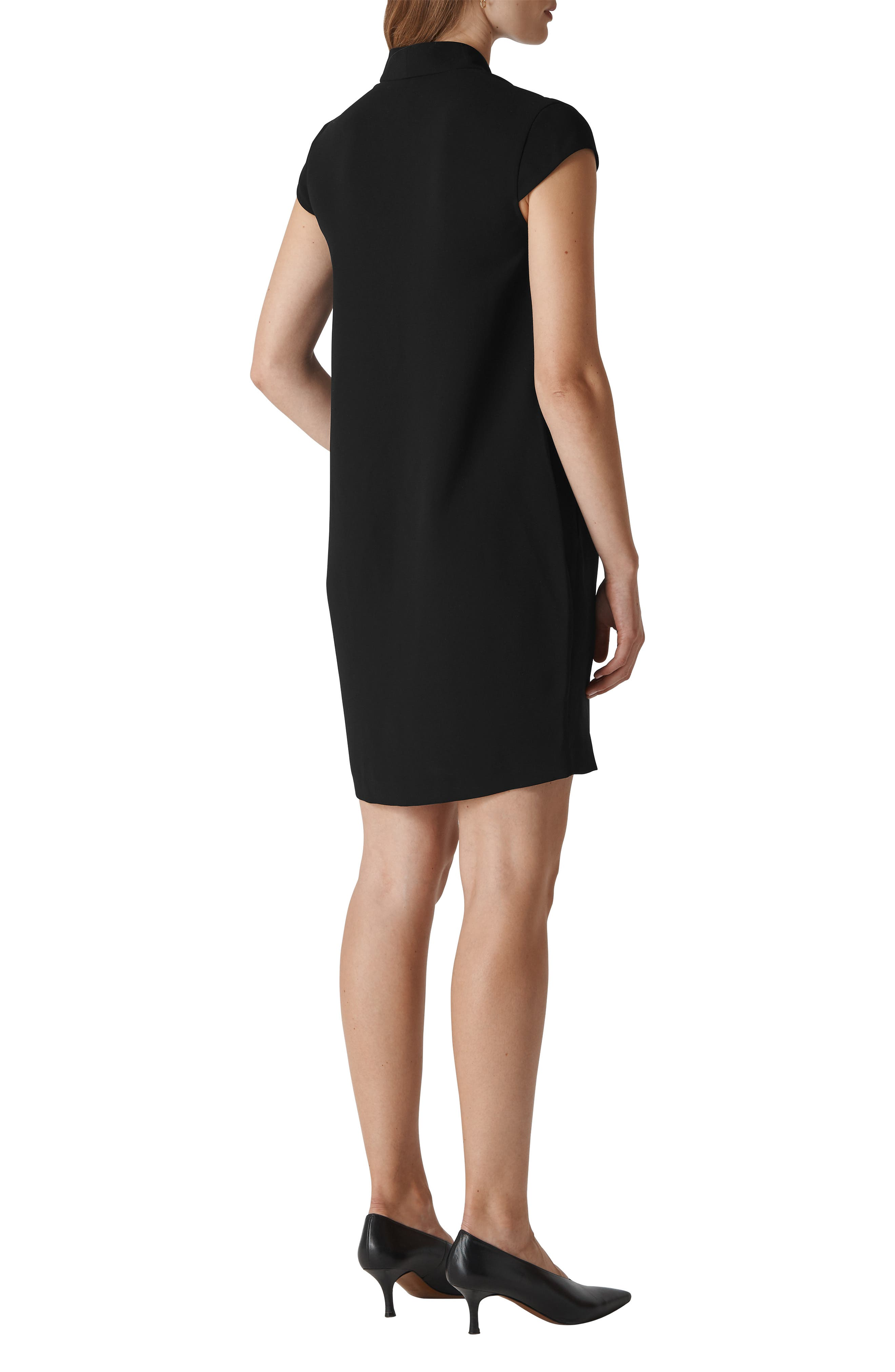 Paige Shift Dress,                             Alternate thumbnail 2, color,                             BLACK