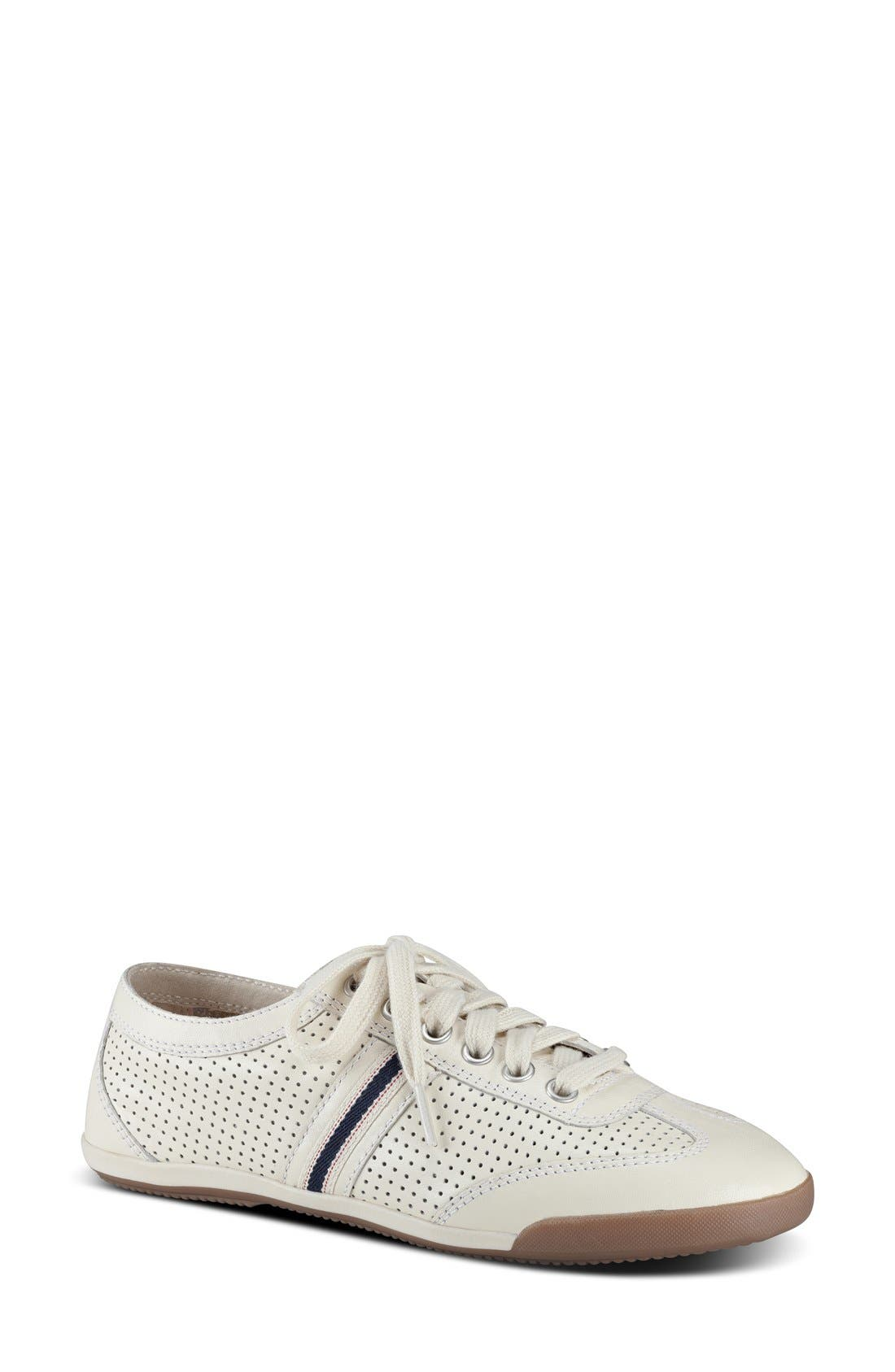 'Escondido' Sneaker,                             Main thumbnail 1, color,                             PALE WHITE LEATHER