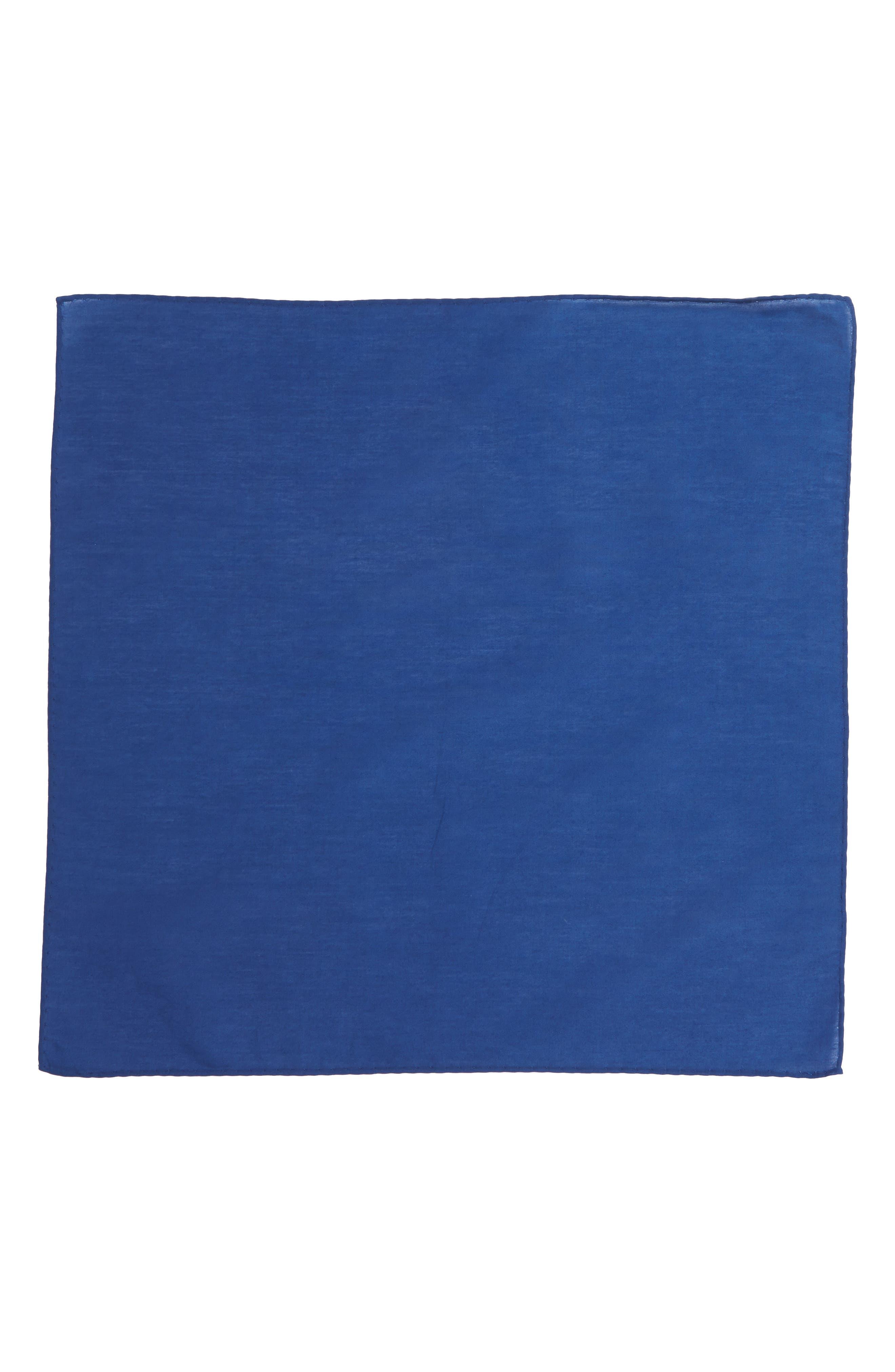 Solid Cotton & Silk Pocket Square,                             Alternate thumbnail 12, color,