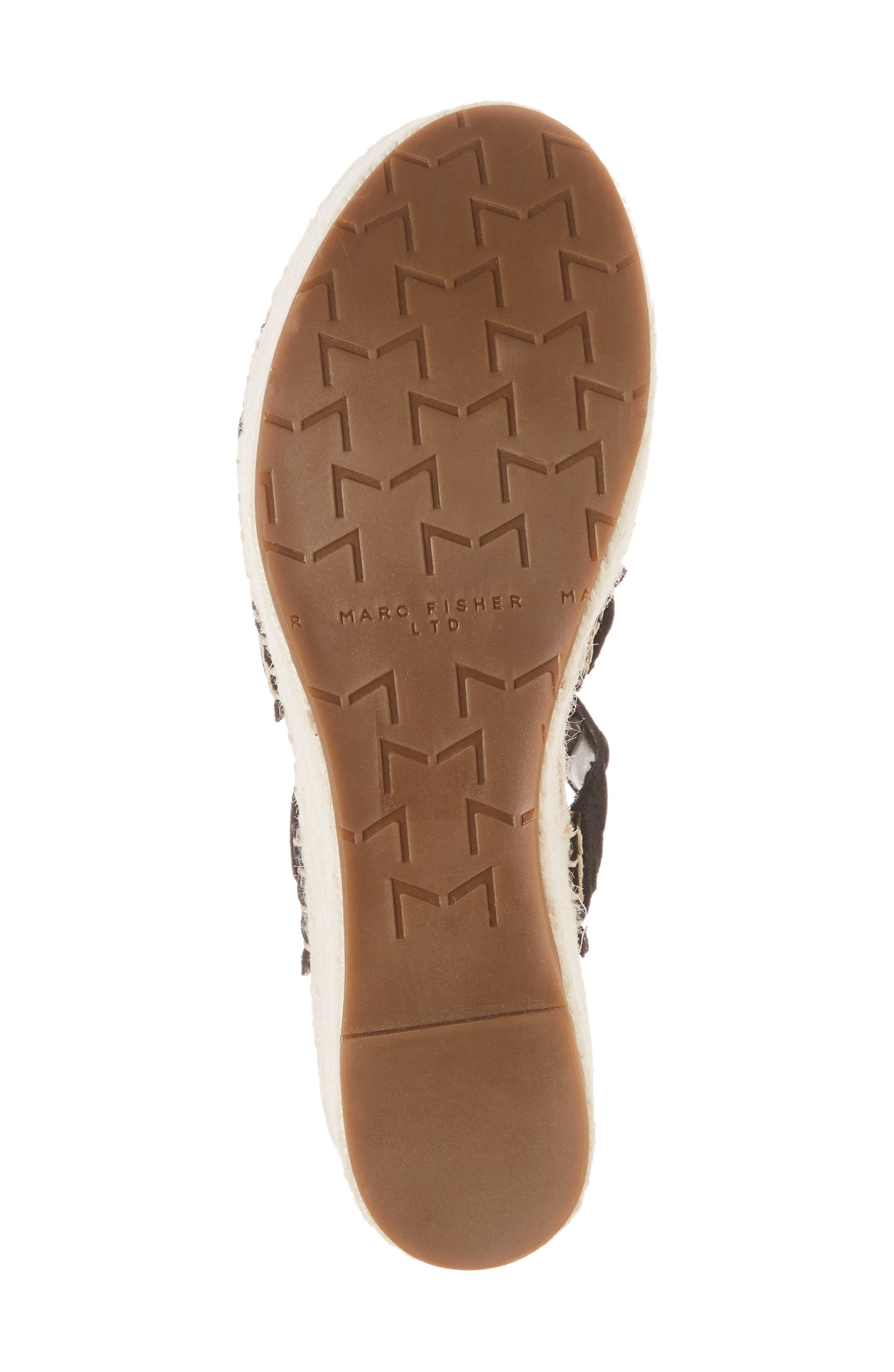 Rosie Espadrille Platform Sandal,                             Alternate thumbnail 6, color,                             BLACK SUEDE