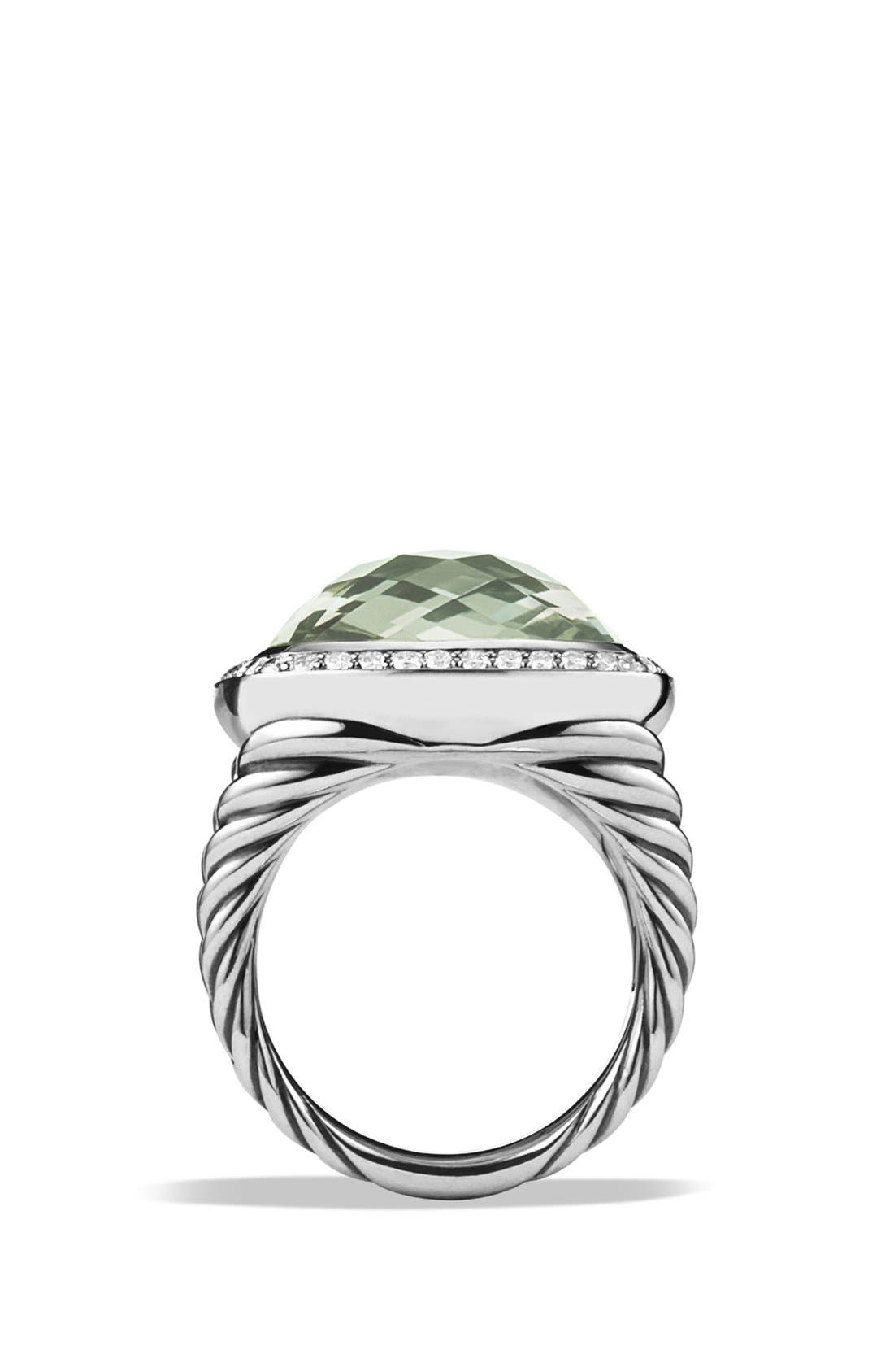 DAVID YURMAN,                             'Albion' Ring with Diamonds,                             Alternate thumbnail 2, color,                             PRASIOLITE