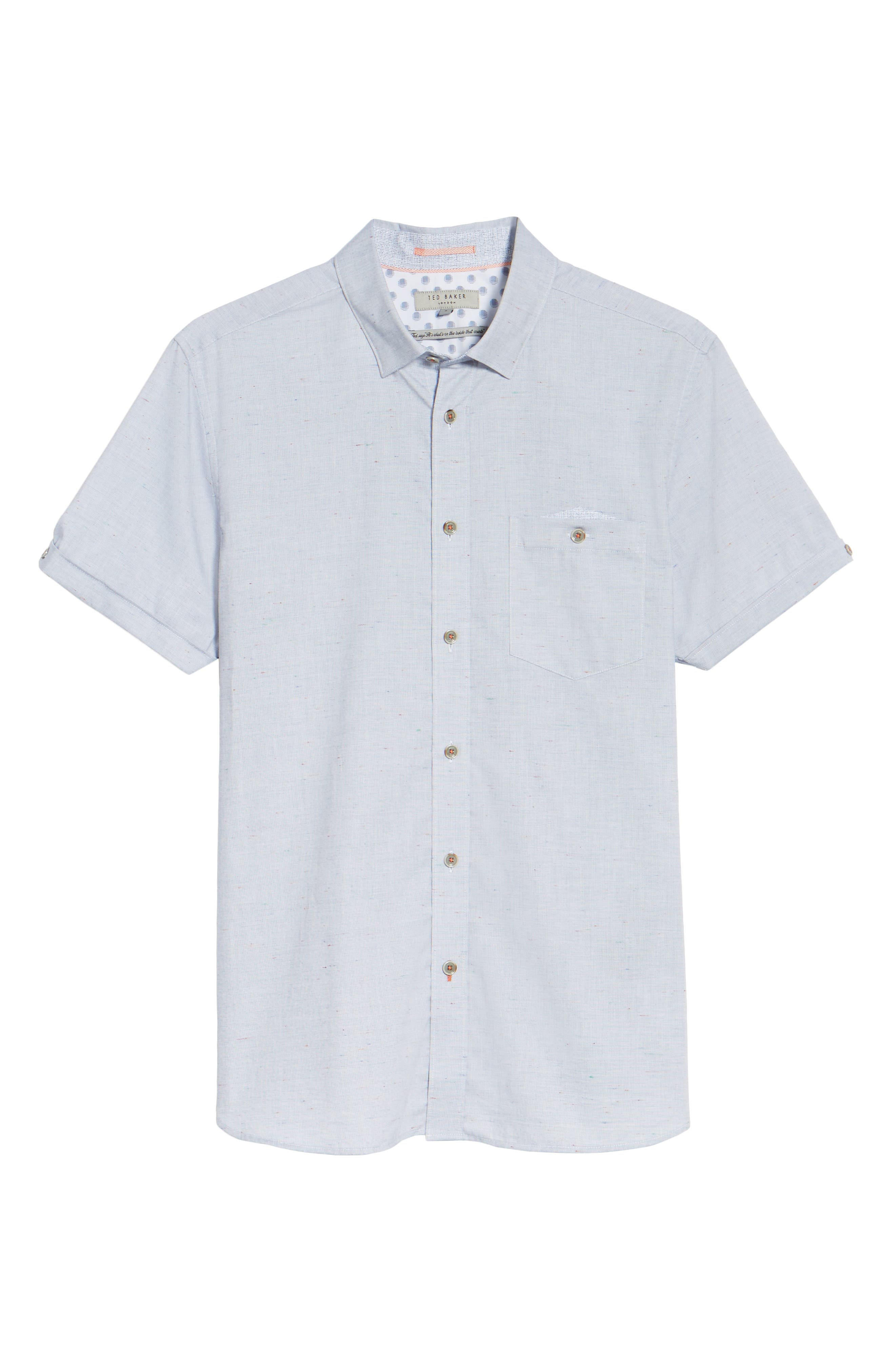 Beya Slim Fit Nepped Woven Shirt,                             Alternate thumbnail 6, color,                             421