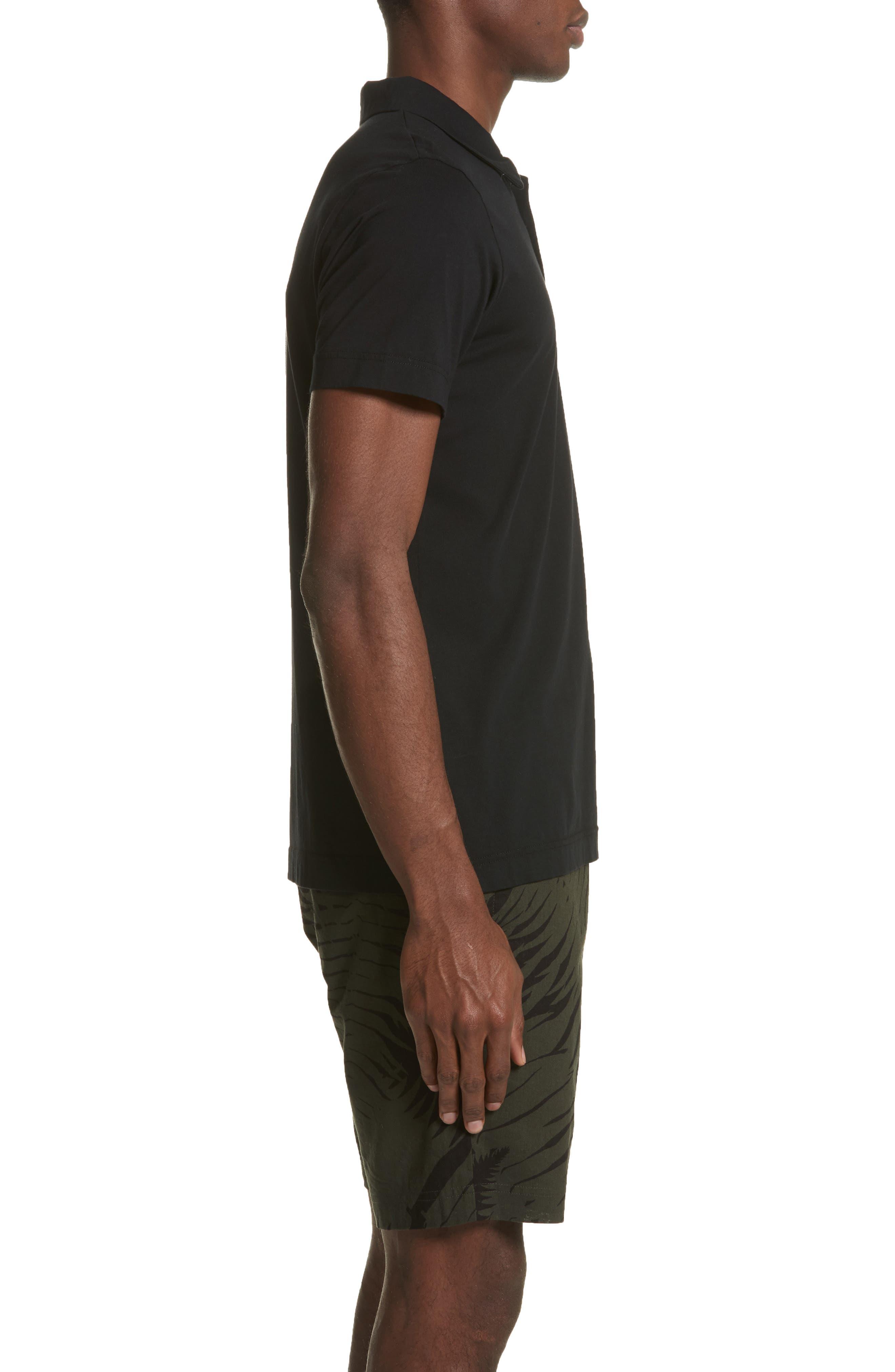 Short Sleeve Polo Shirt,                             Alternate thumbnail 3, color,                             001