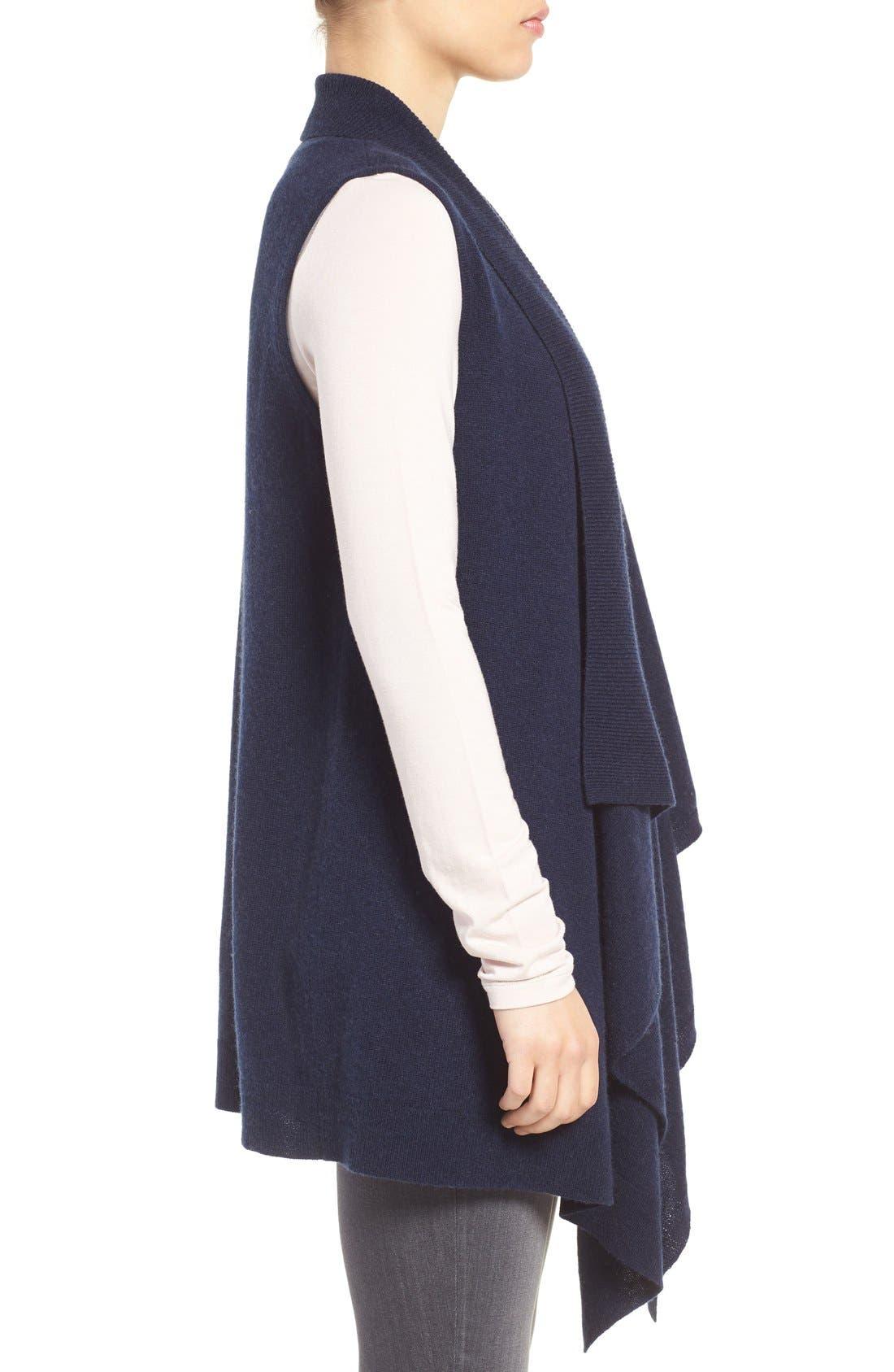 Wool & Cashmere Drape Front Sweater Vest,                             Alternate thumbnail 23, color,