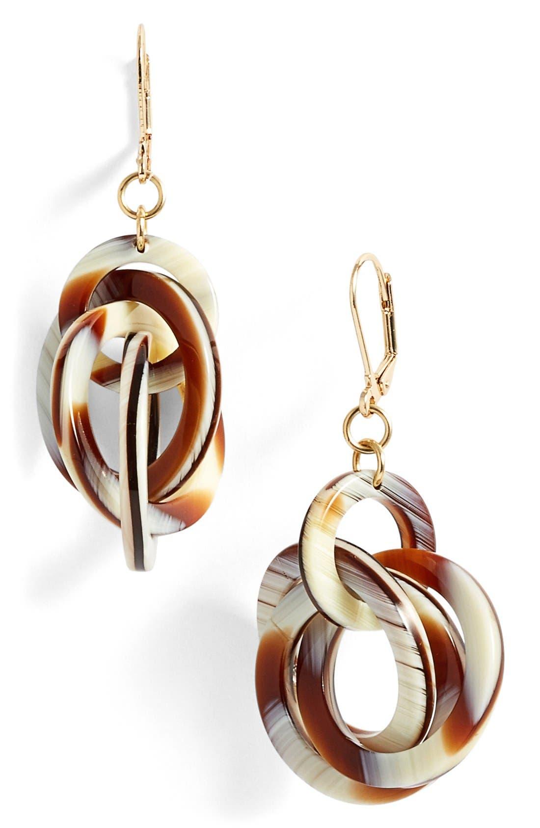 'Twisted Loops' Drop Earrings,                             Main thumbnail 7, color,