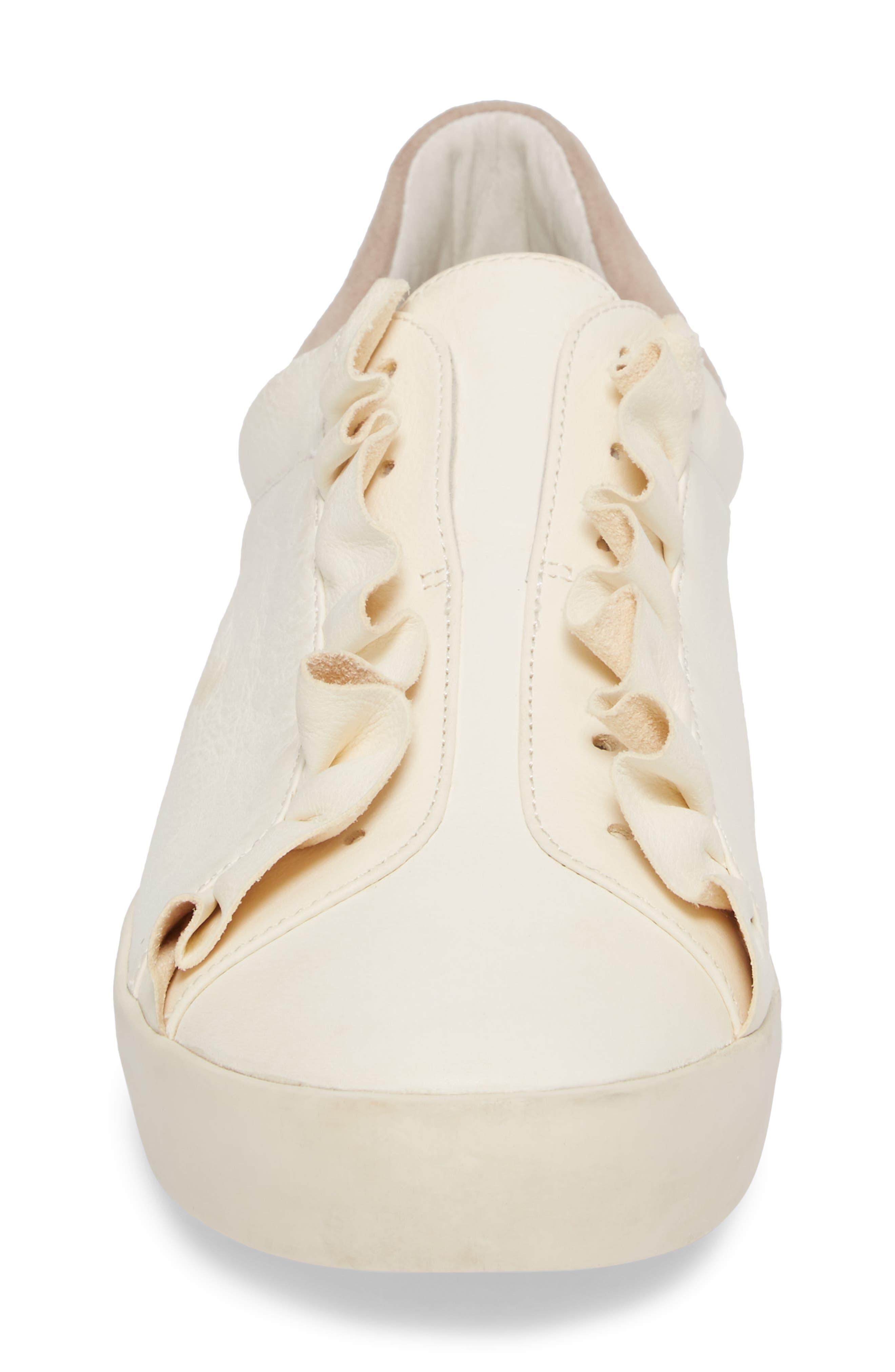 Daw Ruffle Slip-On Sneaker,                             Alternate thumbnail 4, color,                             900