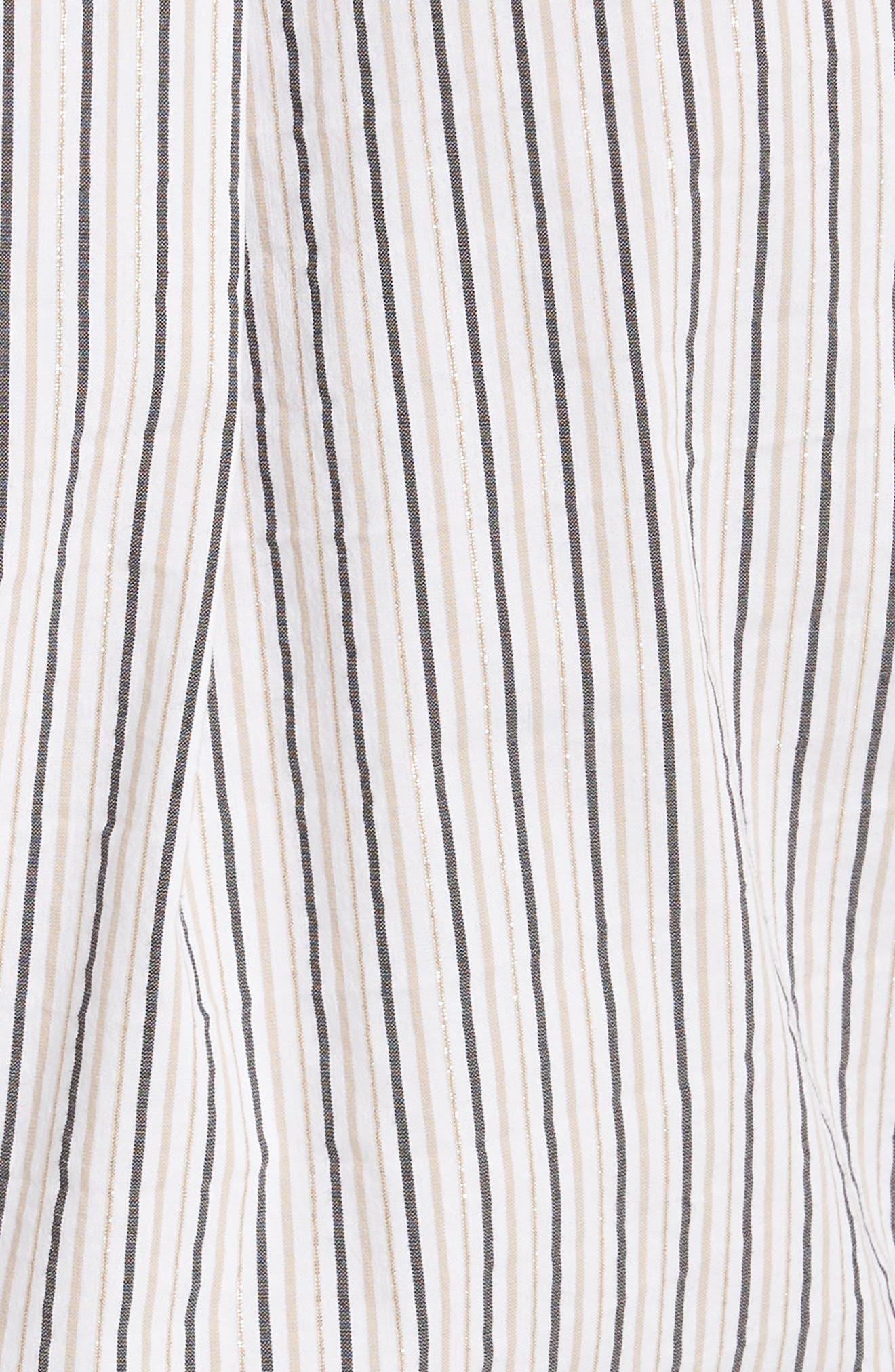 Stripe Slim Tie Neck Shirt,                             Alternate thumbnail 5, color,                             200