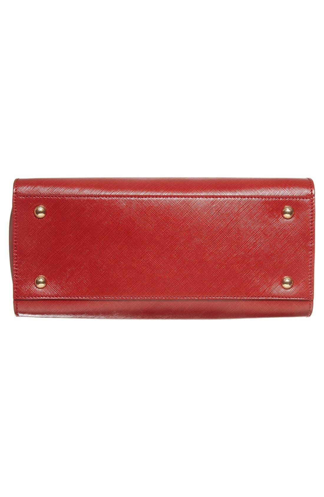 Small Saffiano Leather Tote,                             Alternate thumbnail 12, color,