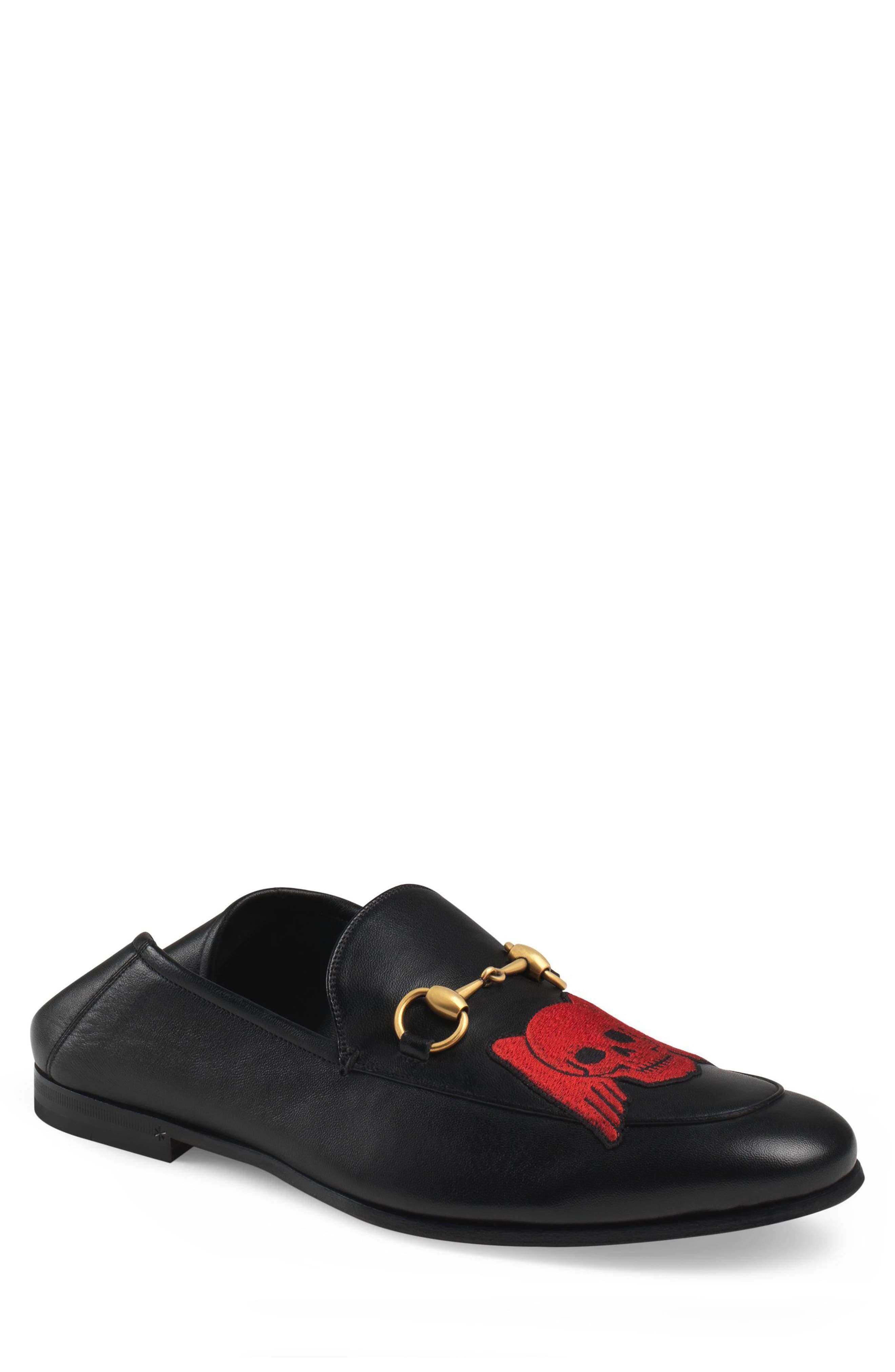 Brixton Embroidered Loafer,                             Main thumbnail 1, color,                             BLACK/ BLACK
