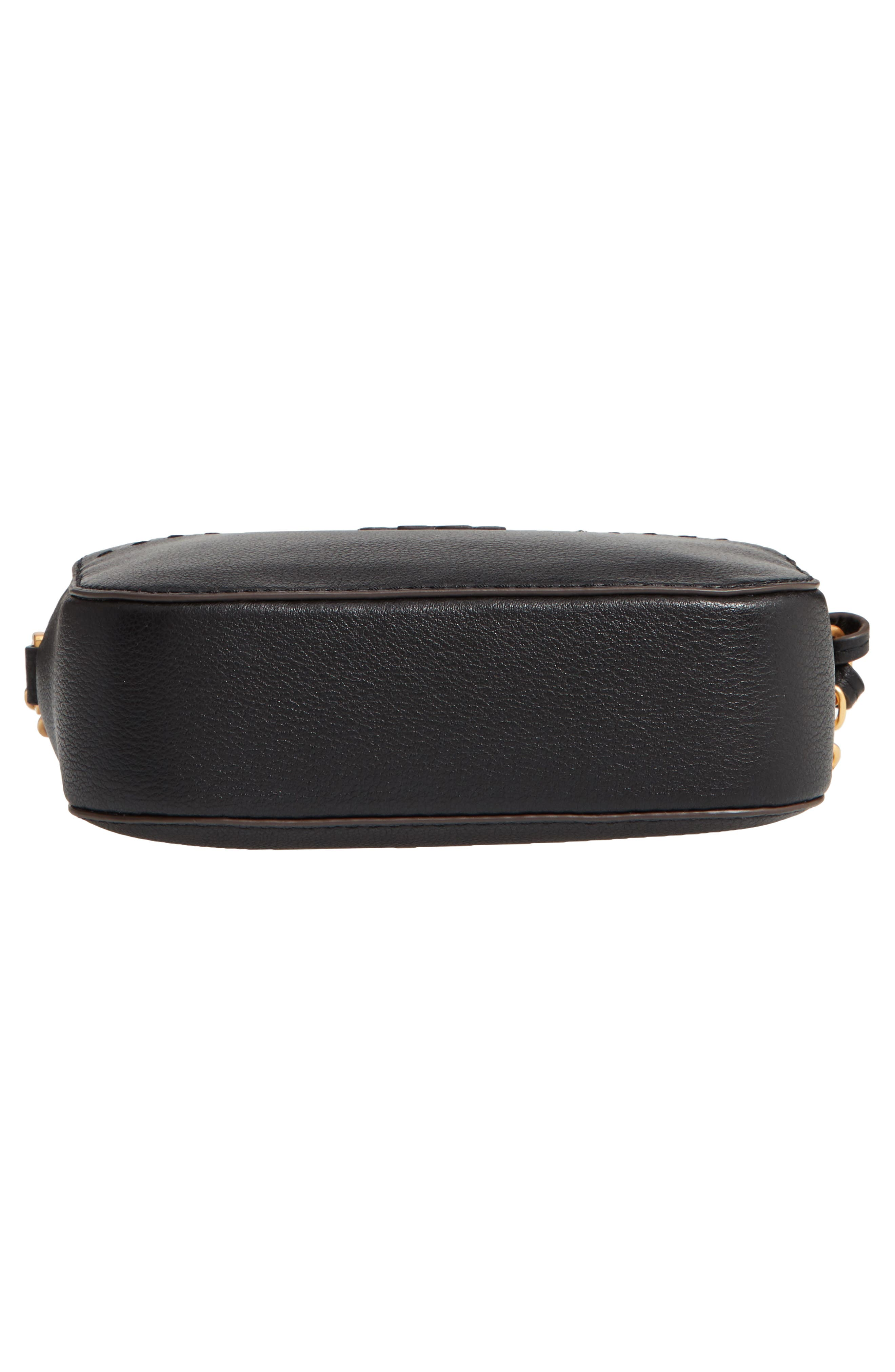 McGraw Leather Camera Bag,                             Alternate thumbnail 6, color,                             BLACK