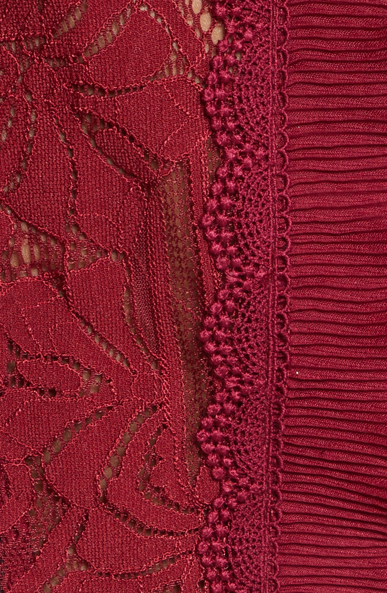 Tower Mesh Lace Ruffled Dress,                             Alternate thumbnail 5, color,                             604