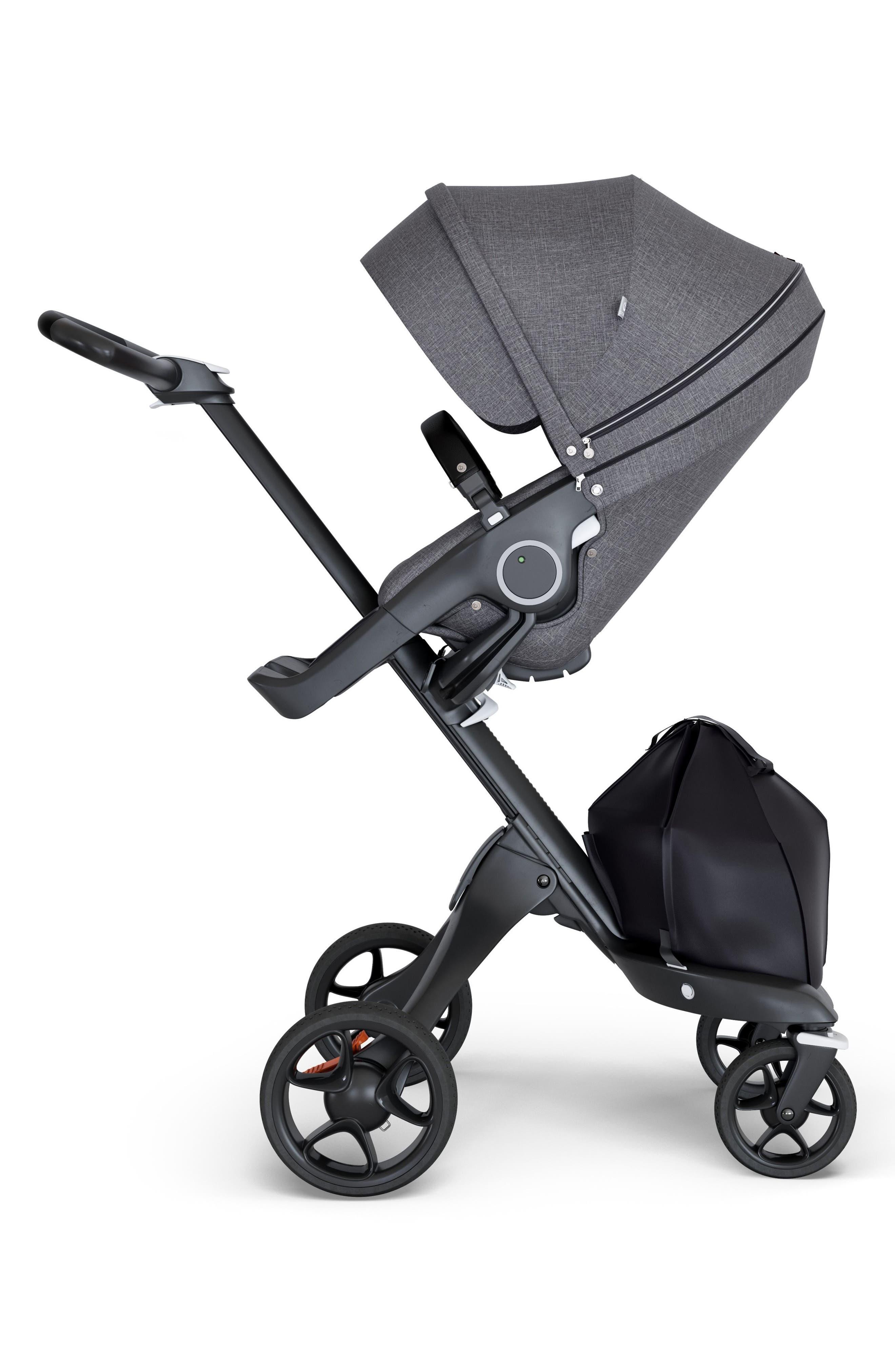 Xplory<sup>®</sup> Black Chassis Stroller,                             Main thumbnail 1, color,                             BLACK MELANGE