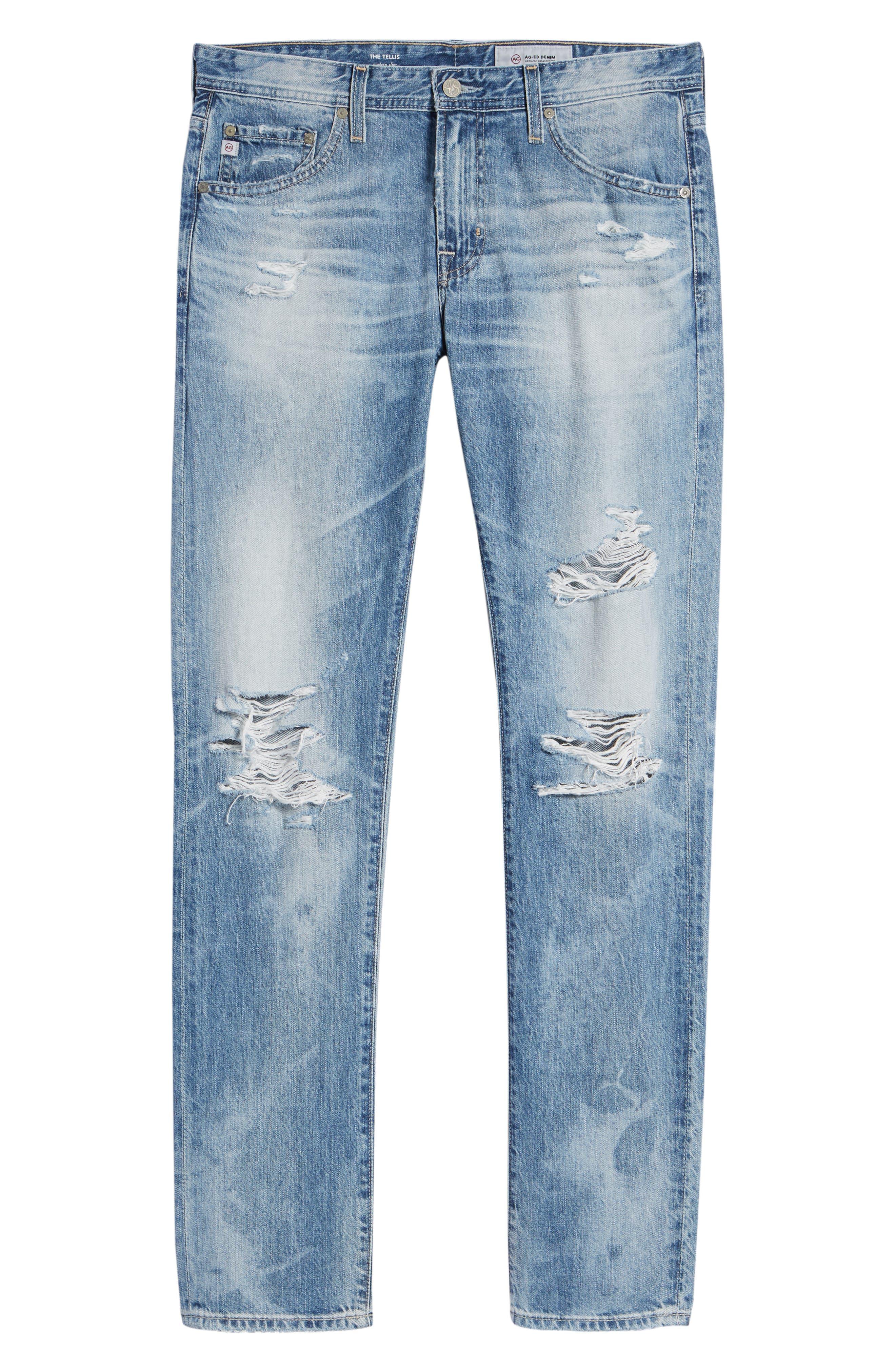 Tellis Slim Fit Jeans,                             Alternate thumbnail 6, color,                             461