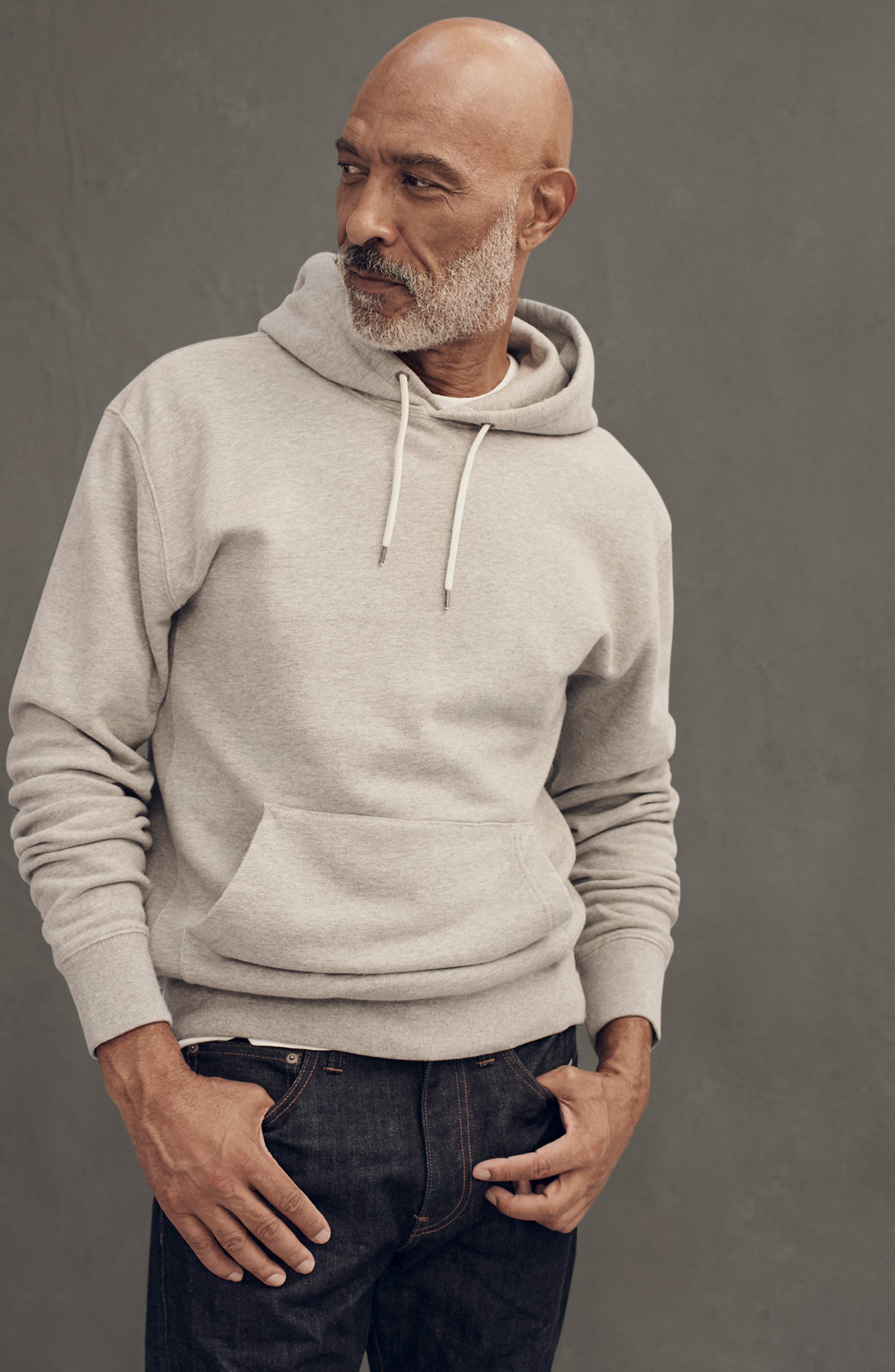 French Terry Pullover Hoodie,                             Alternate thumbnail 6, color,                             021