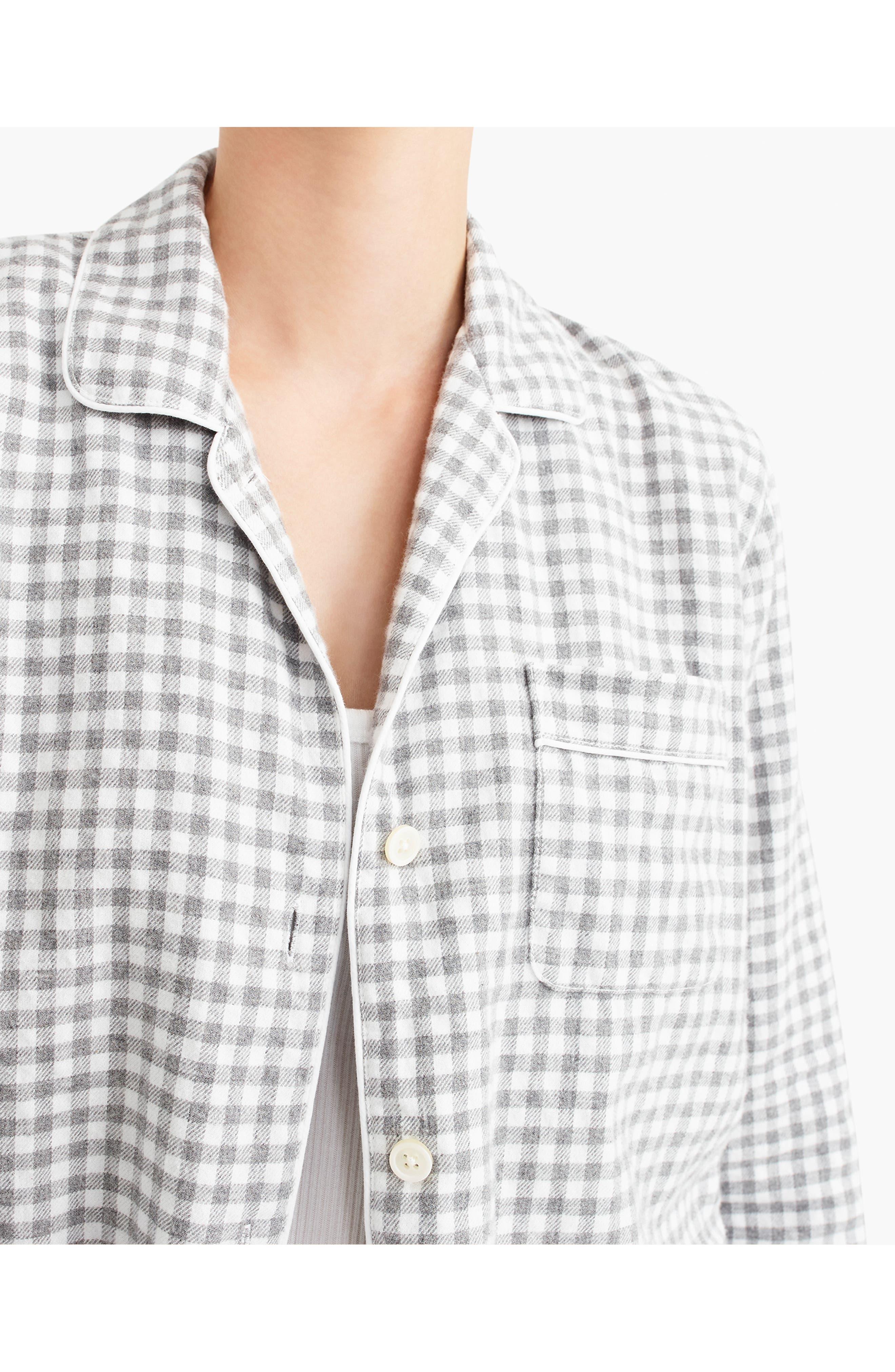 Gingham Flannel Pajamas,                             Alternate thumbnail 5, color,                             090