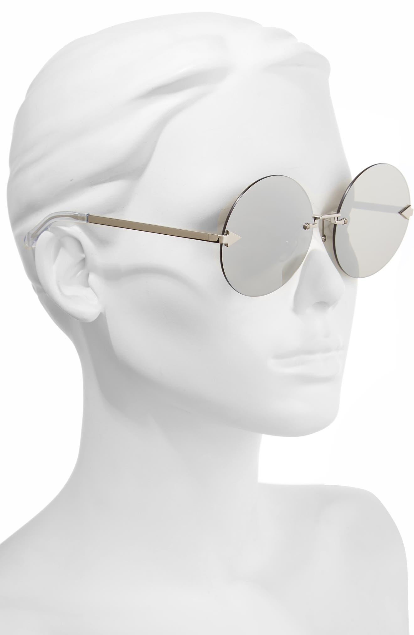 Disco Circus 60mm Rimless Round Sunglasses,                             Alternate thumbnail 5, color,