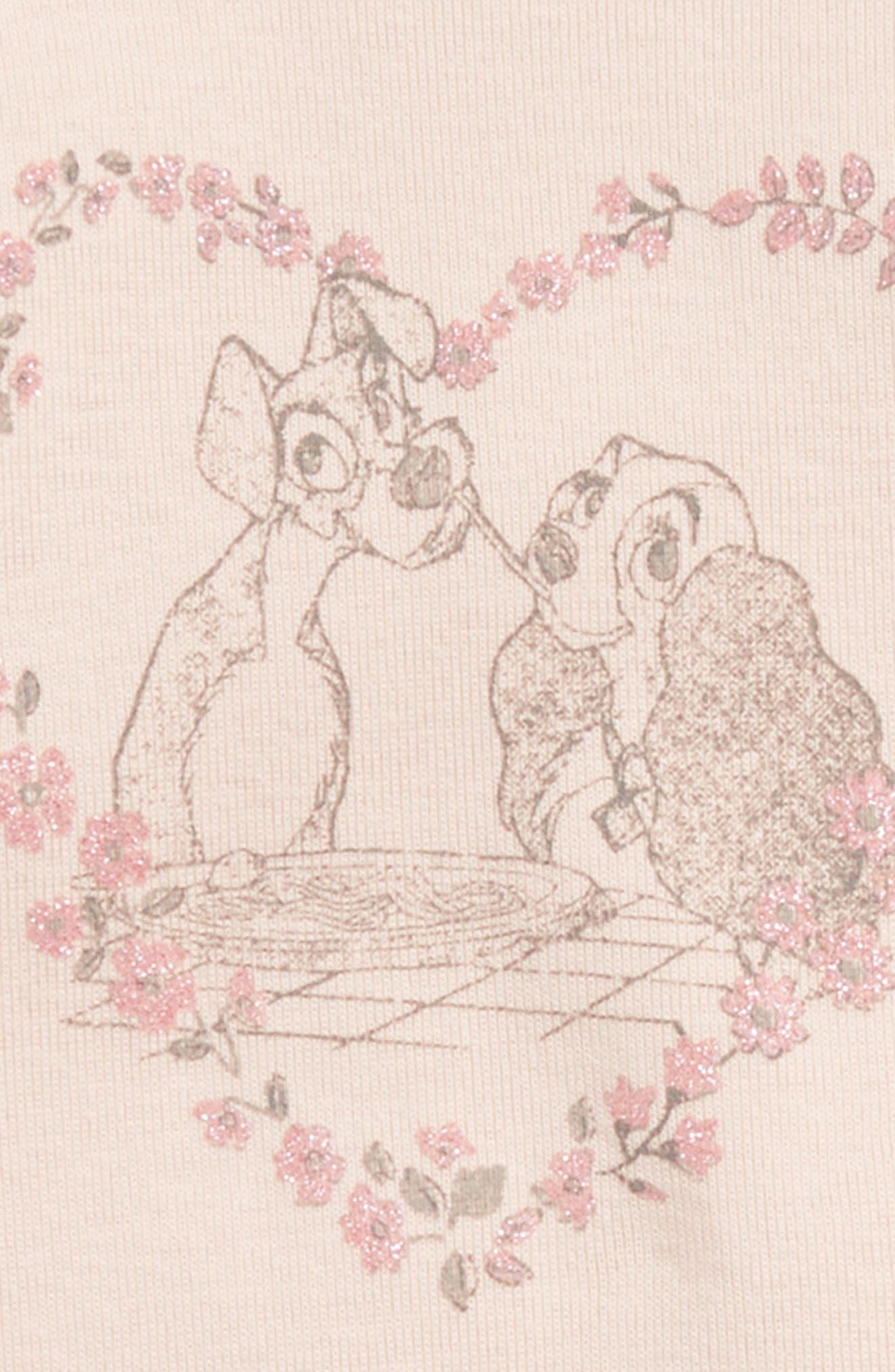 Disney 'Lady & the Tramp' Organic Cotton Bodysuit,                             Alternate thumbnail 2, color,                             650