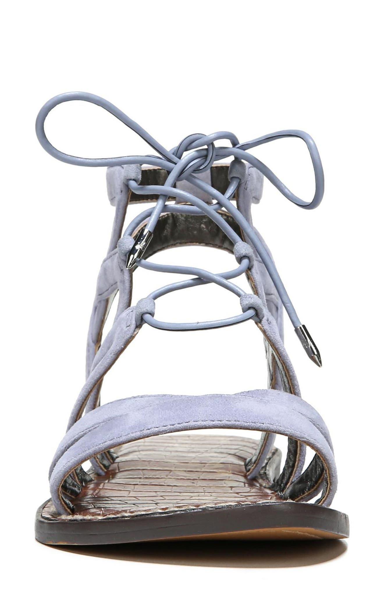 Gemma Lace-Up Sandal,                             Alternate thumbnail 4, color,                             401