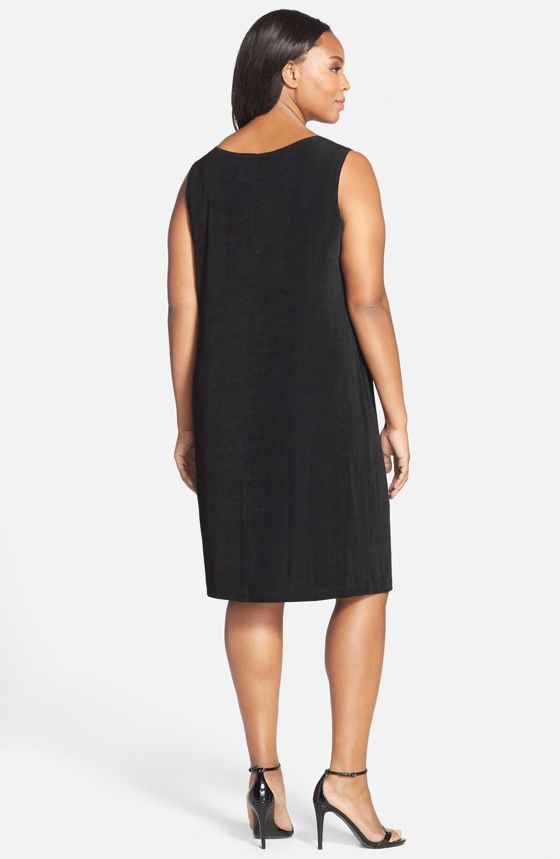 VIKKI VI,                             Sleeveless Shift Dress,                             Alternate thumbnail 7, color,                             BLACK