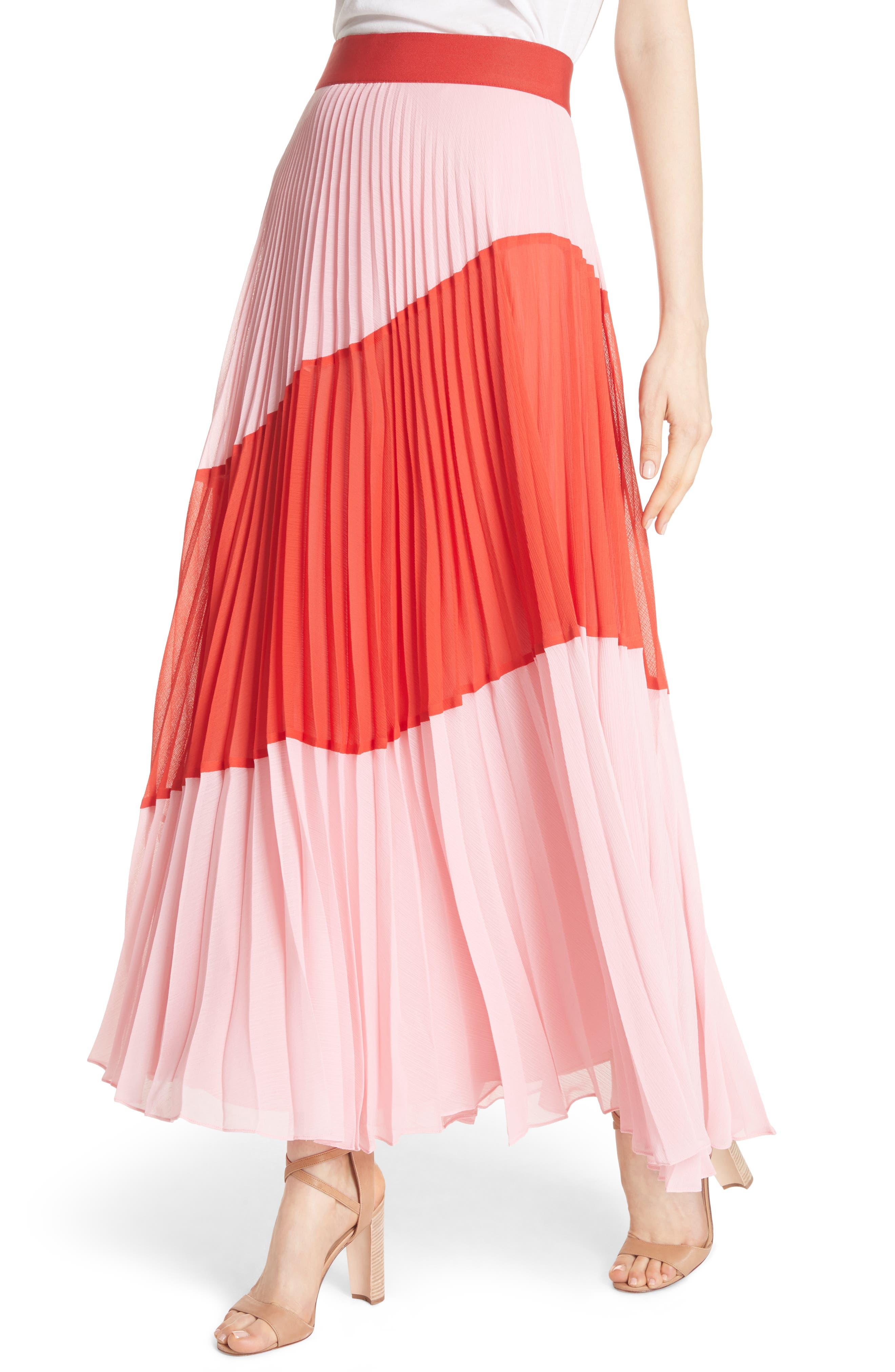 Tavi Colorblock Maxi Skirt,                             Alternate thumbnail 4, color,