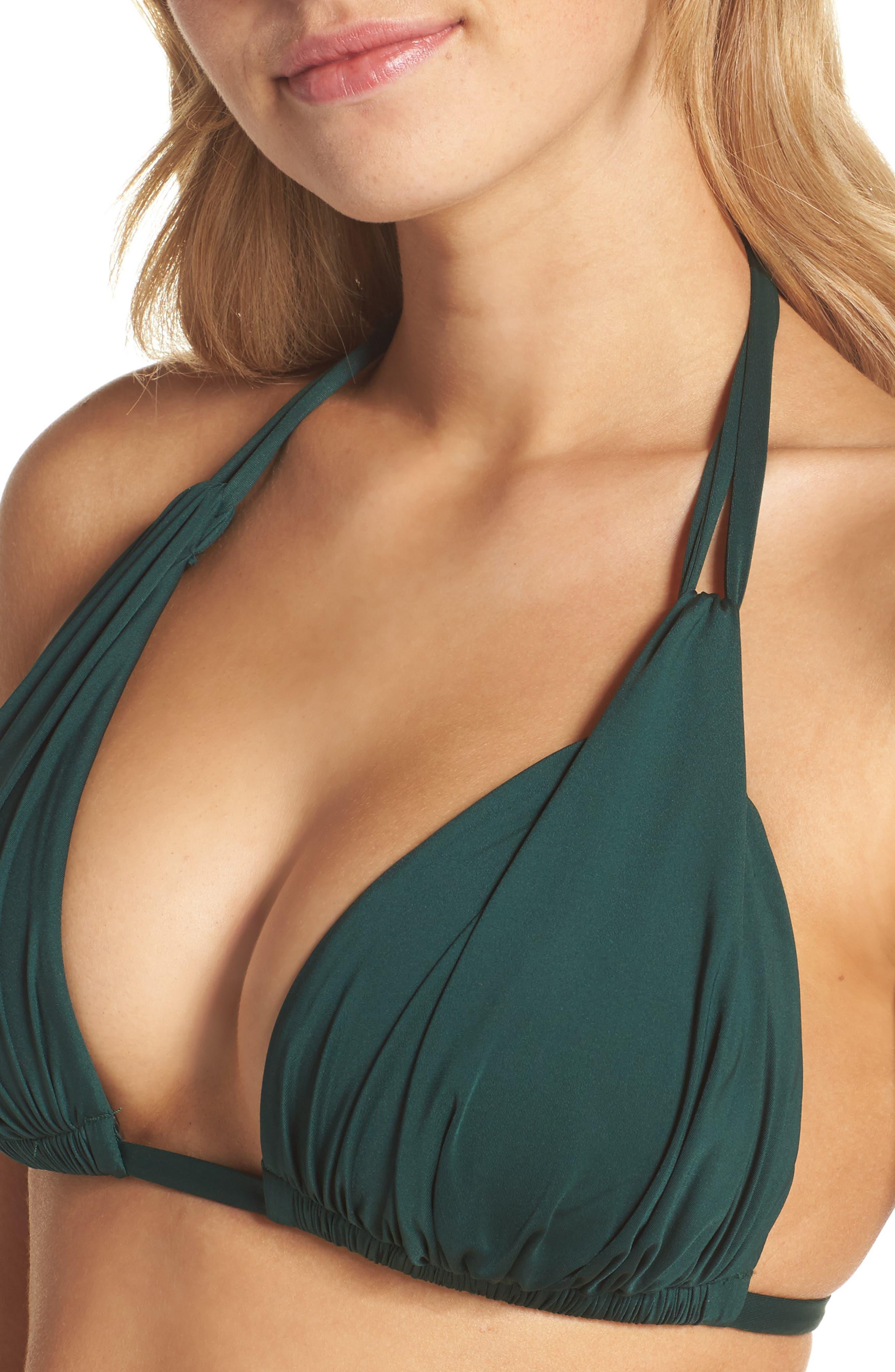 Island Blanca Halter Bikini Top,                             Alternate thumbnail 37, color,