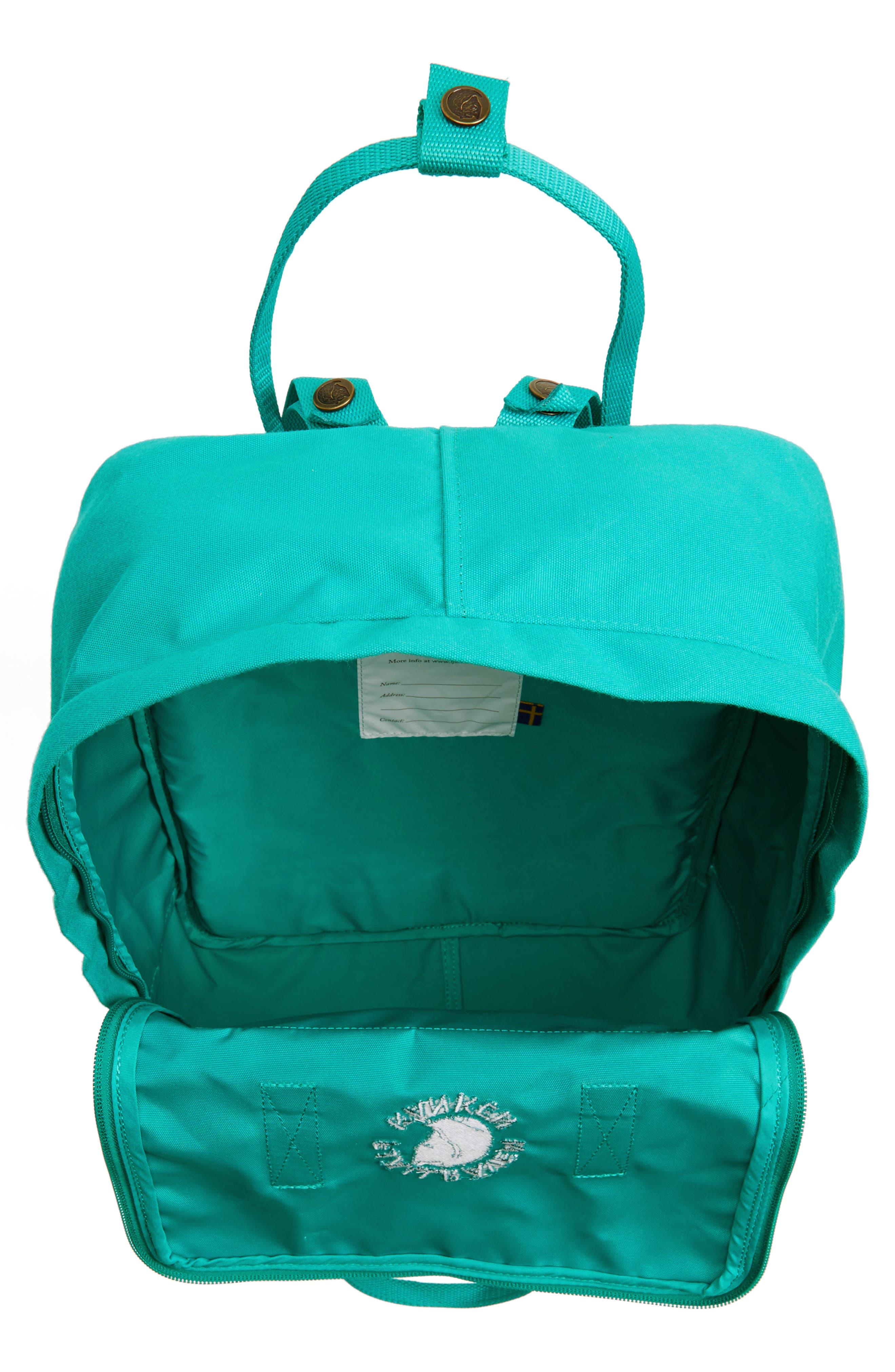 Re-Kånken Water Resistant Backpack,                             Alternate thumbnail 4, color,                             EMERALD