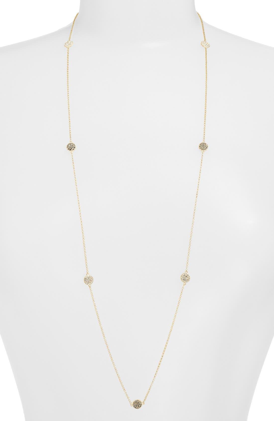 Long Illusion Necklace,                         Main,                         color, MARCASITE/ GOLD