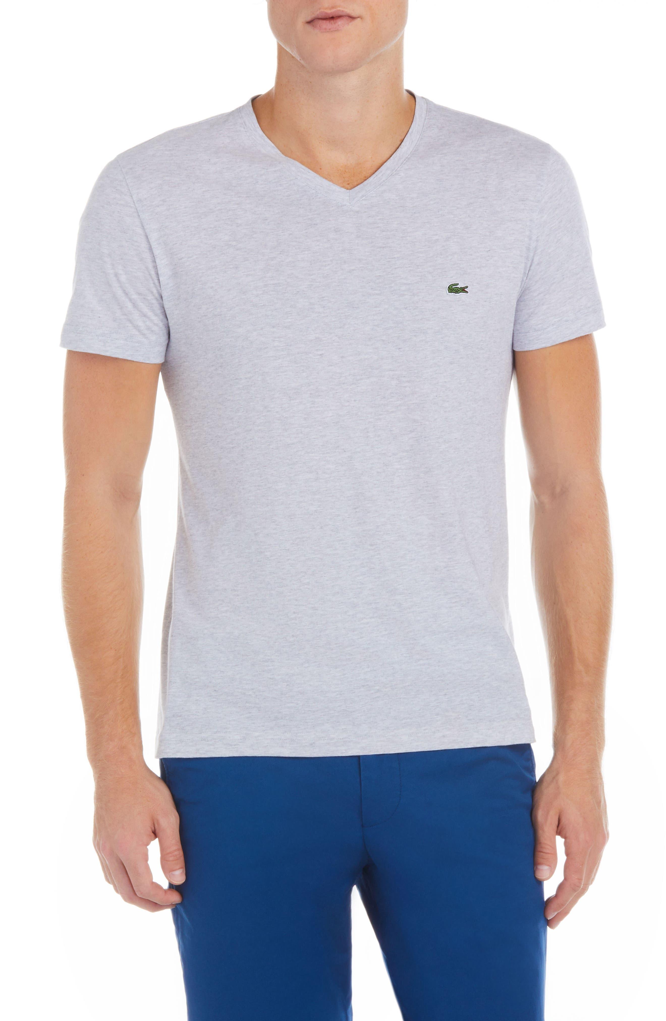 V-Neck Cotton T-Shirt,                             Main thumbnail 1, color,