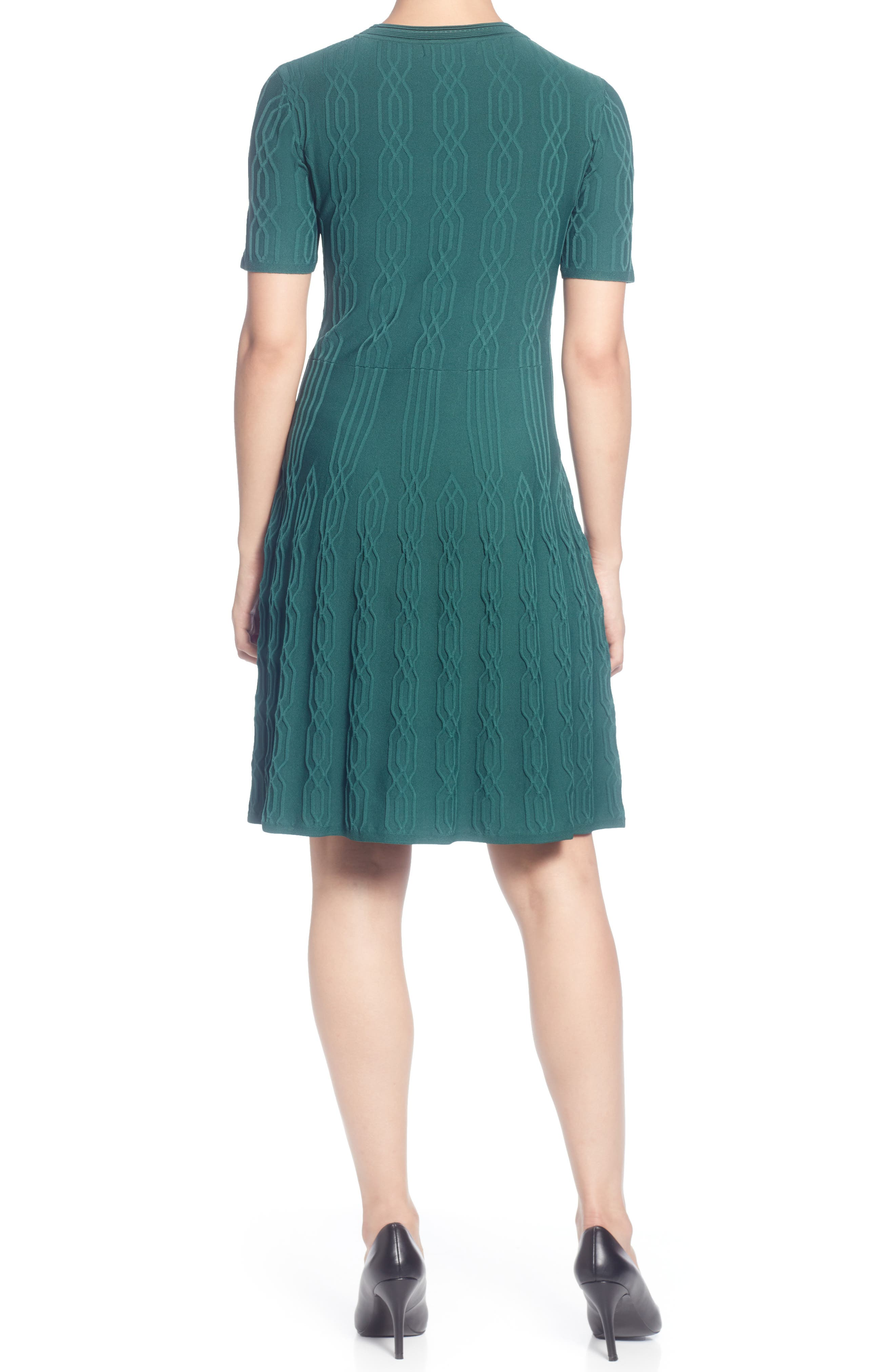 CATHERINE CATHERINE MALANDRINO,                             Jacquard Sweater Dress,                             Alternate thumbnail 2, color,                             JUNE BUG