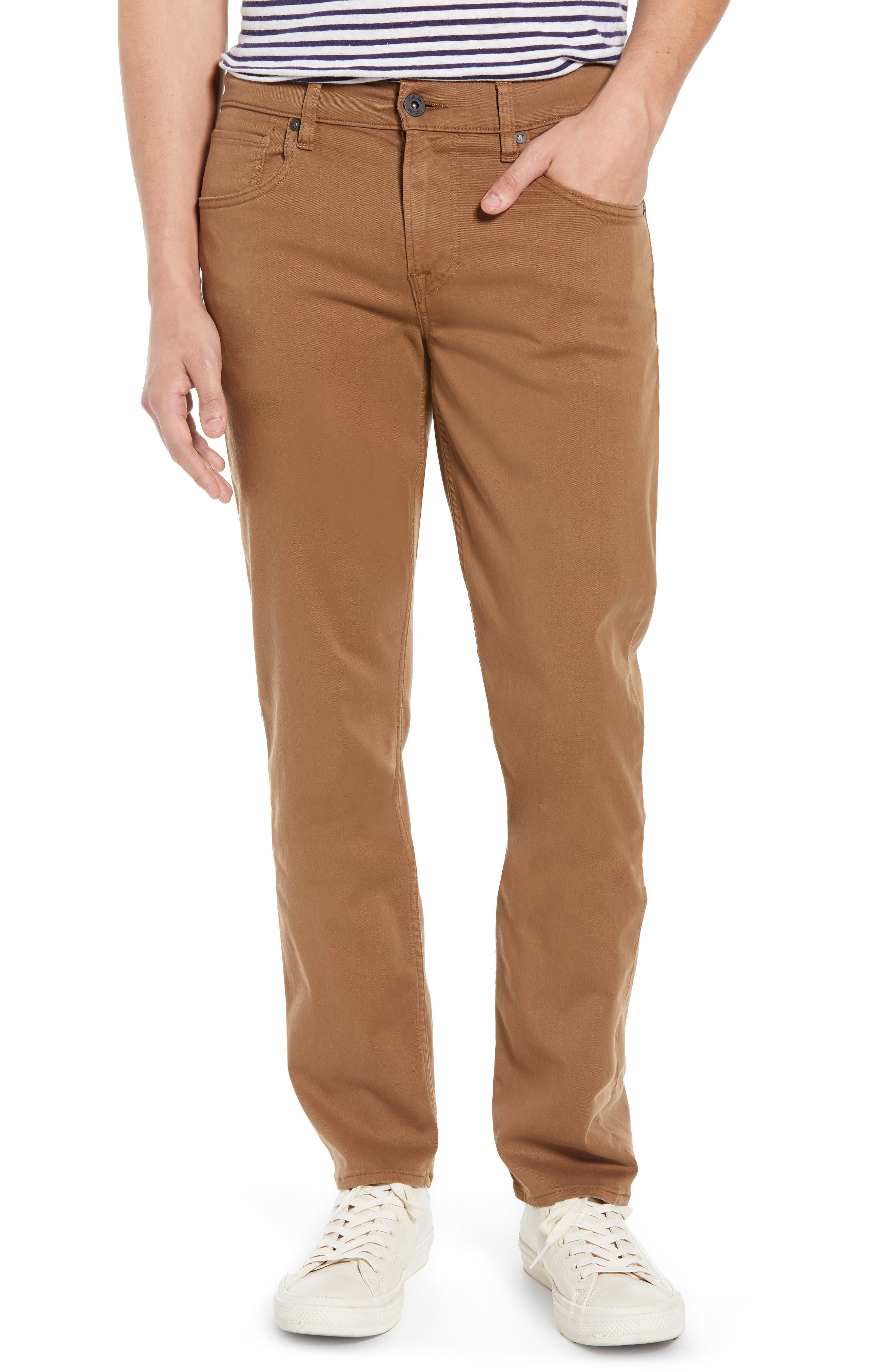 Hudson Blake Slim Fit Jeans,                         Main,                         color, SIENNA
