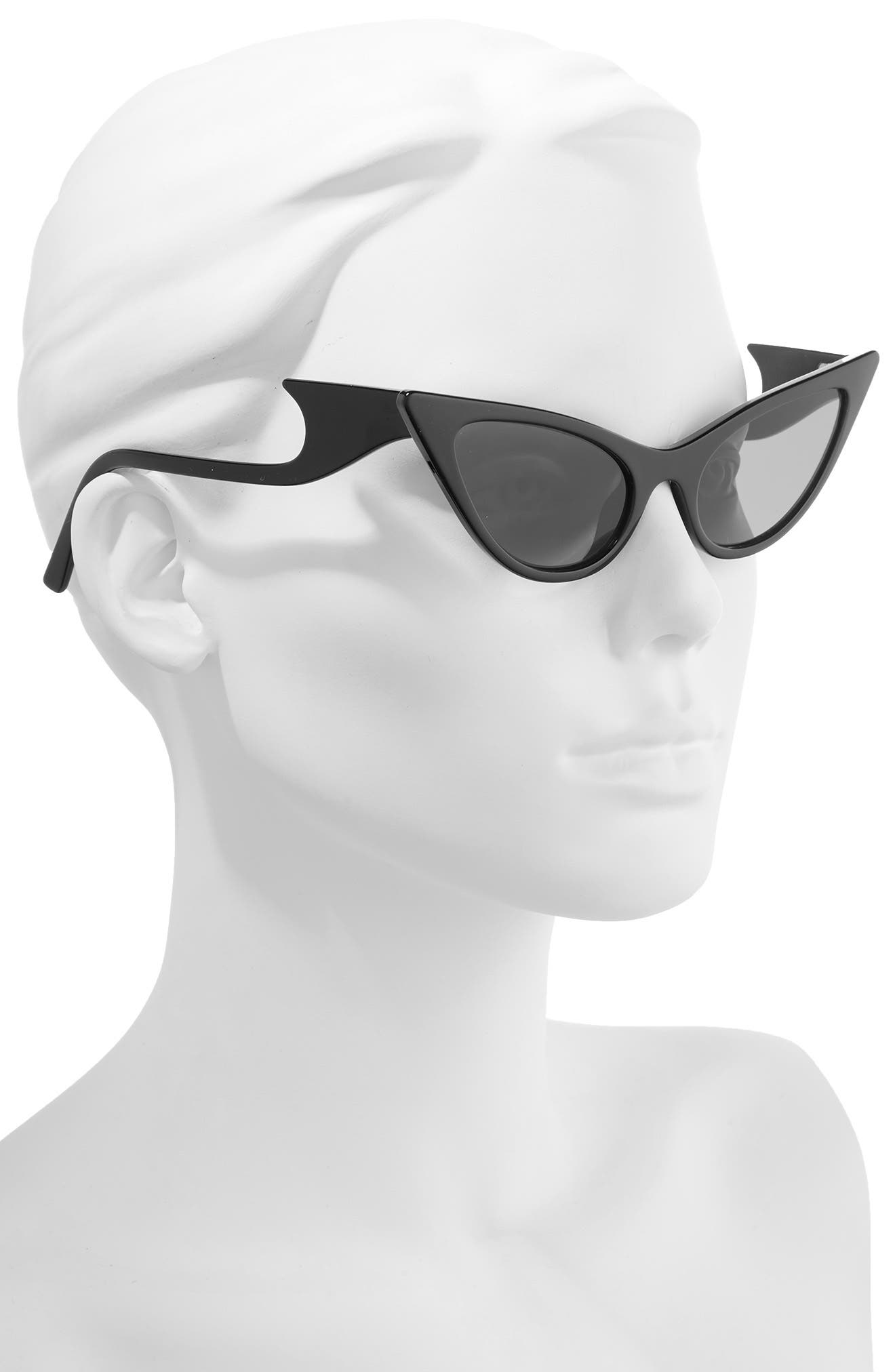 The Prowler 55mm Sunglasses,                             Alternate thumbnail 2, color,                             BLACK