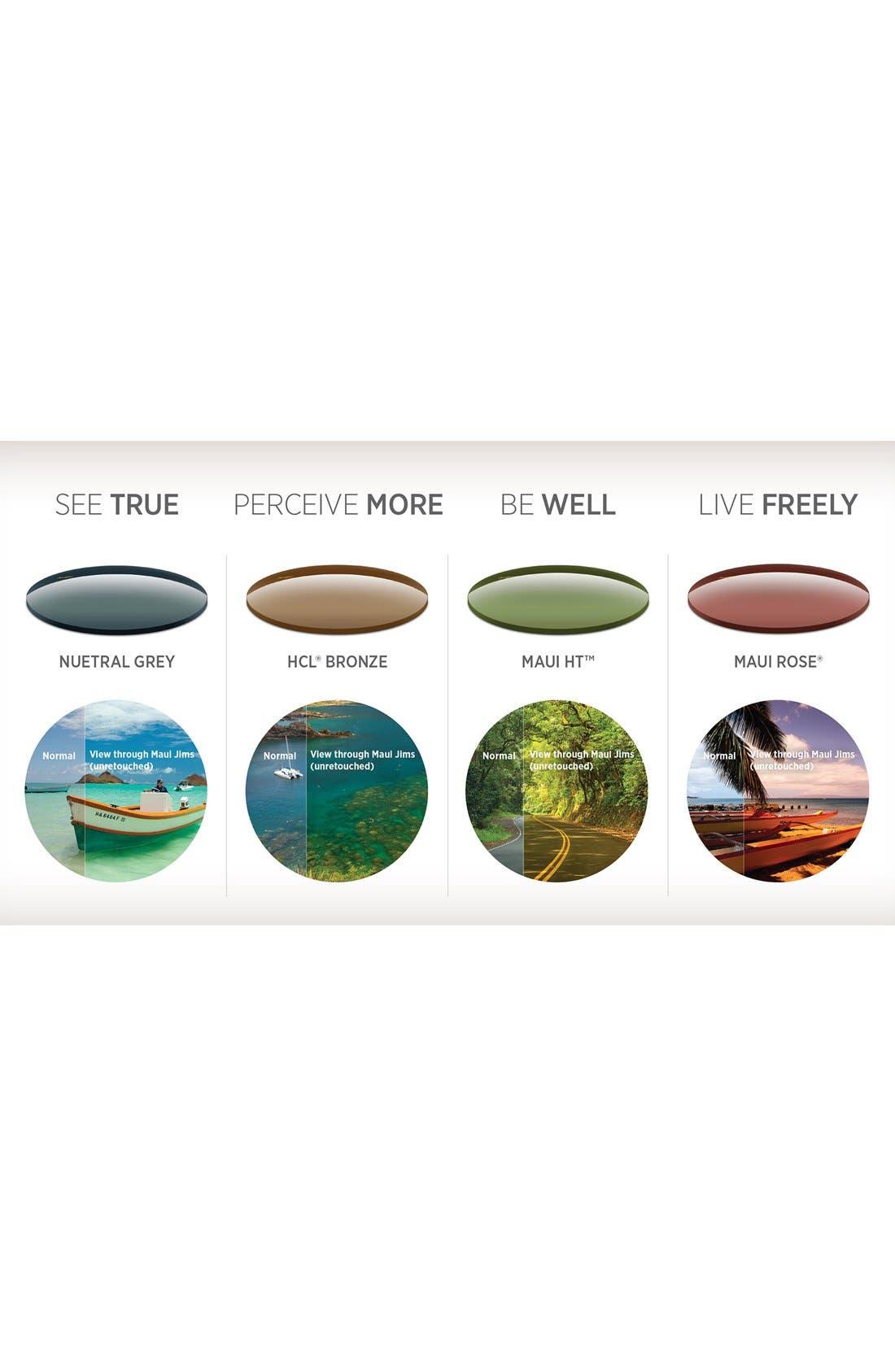 Punchbowl 54mm PolarizedPlus2<sup>®</sup> Rectangular Sunglasses,                             Alternate thumbnail 3, color,                             BLACK W/ BLUE