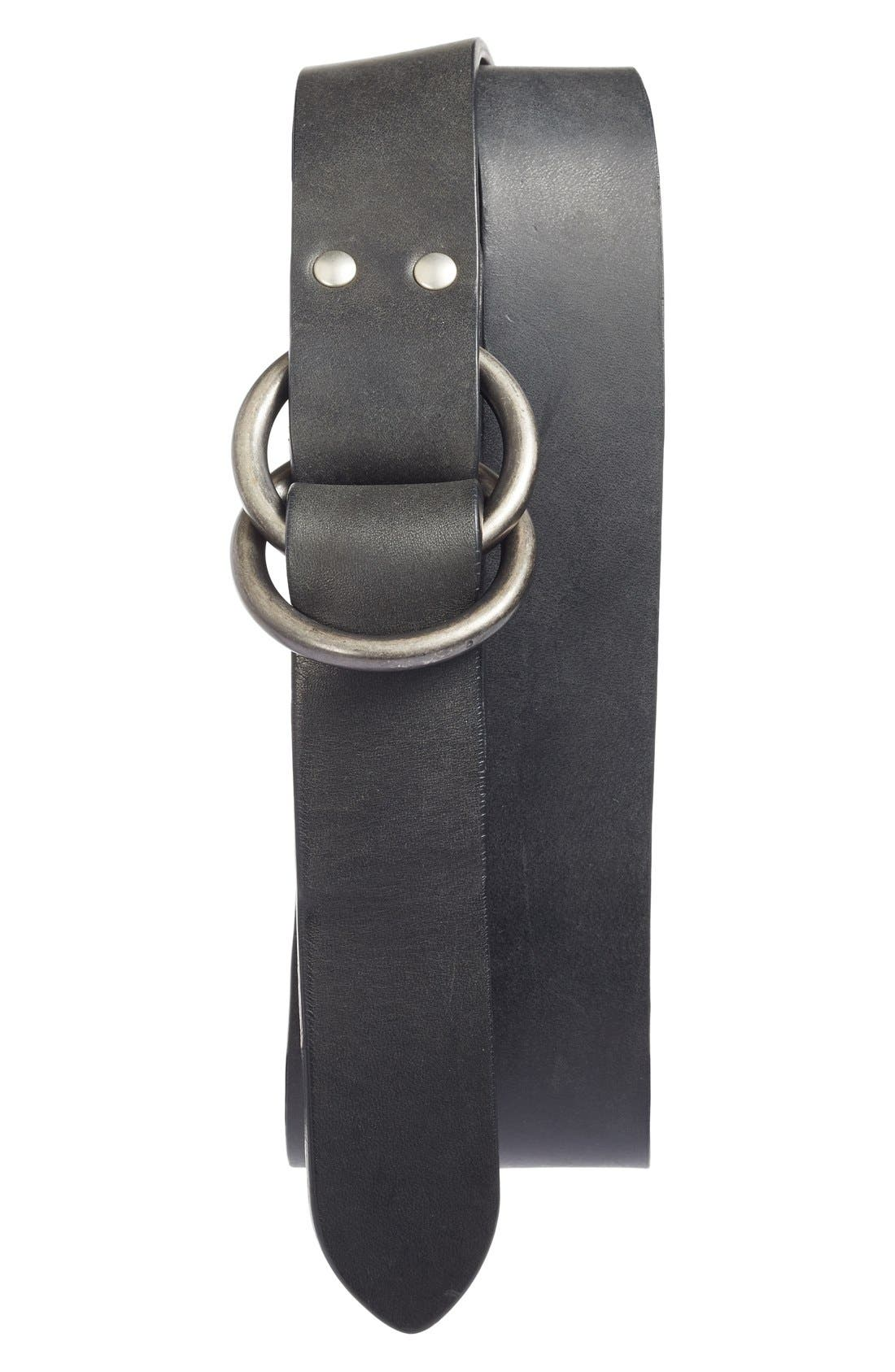 Harness Leather Belt,                             Main thumbnail 2, color,