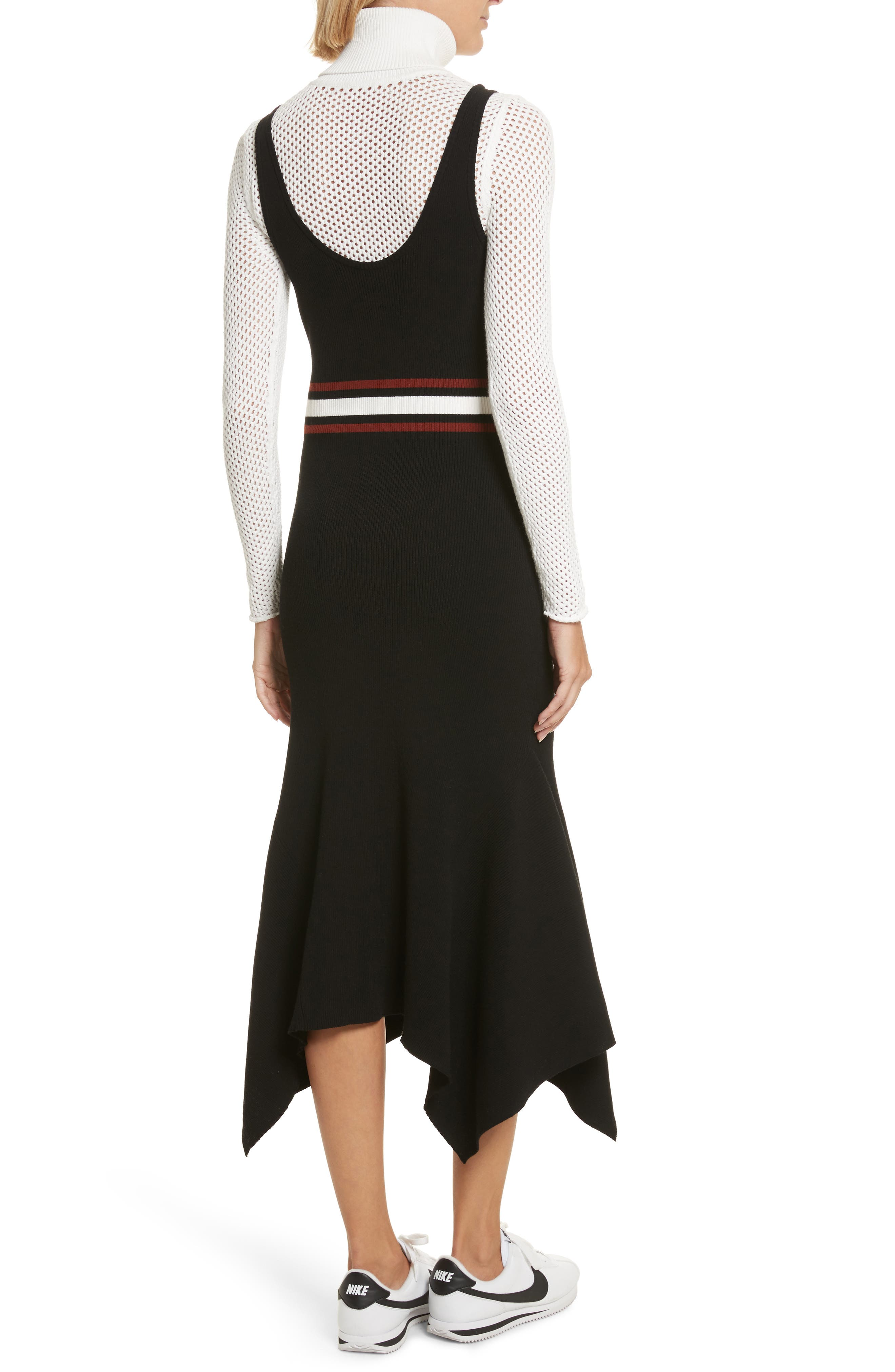Anders Rib Knit Dress,                             Alternate thumbnail 2, color,                             002