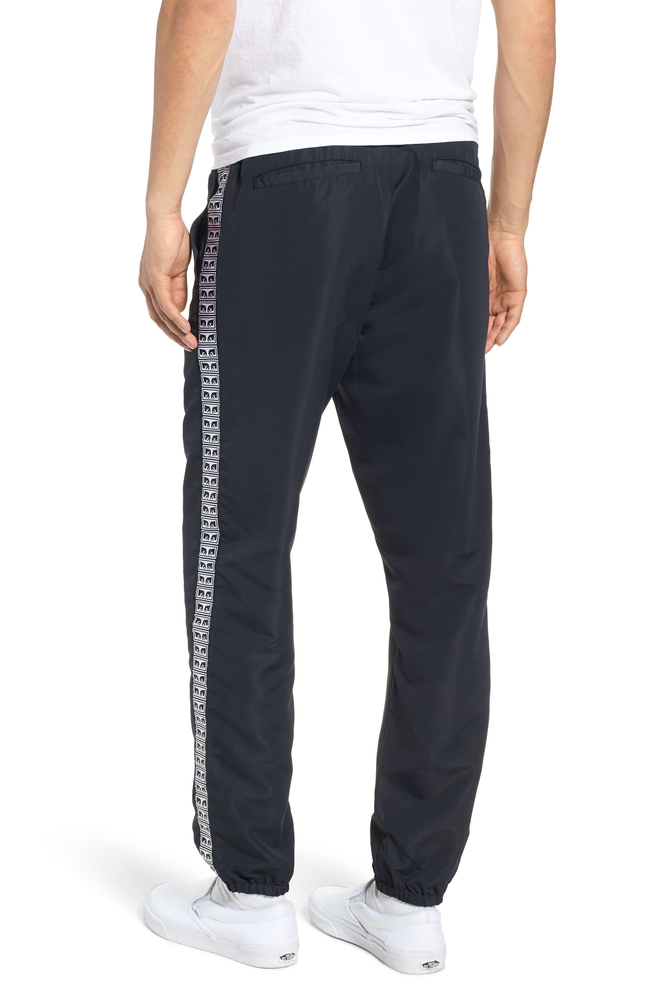Regular Fit Eyes Taped Track Pants,                             Alternate thumbnail 2, color,                             BLACK