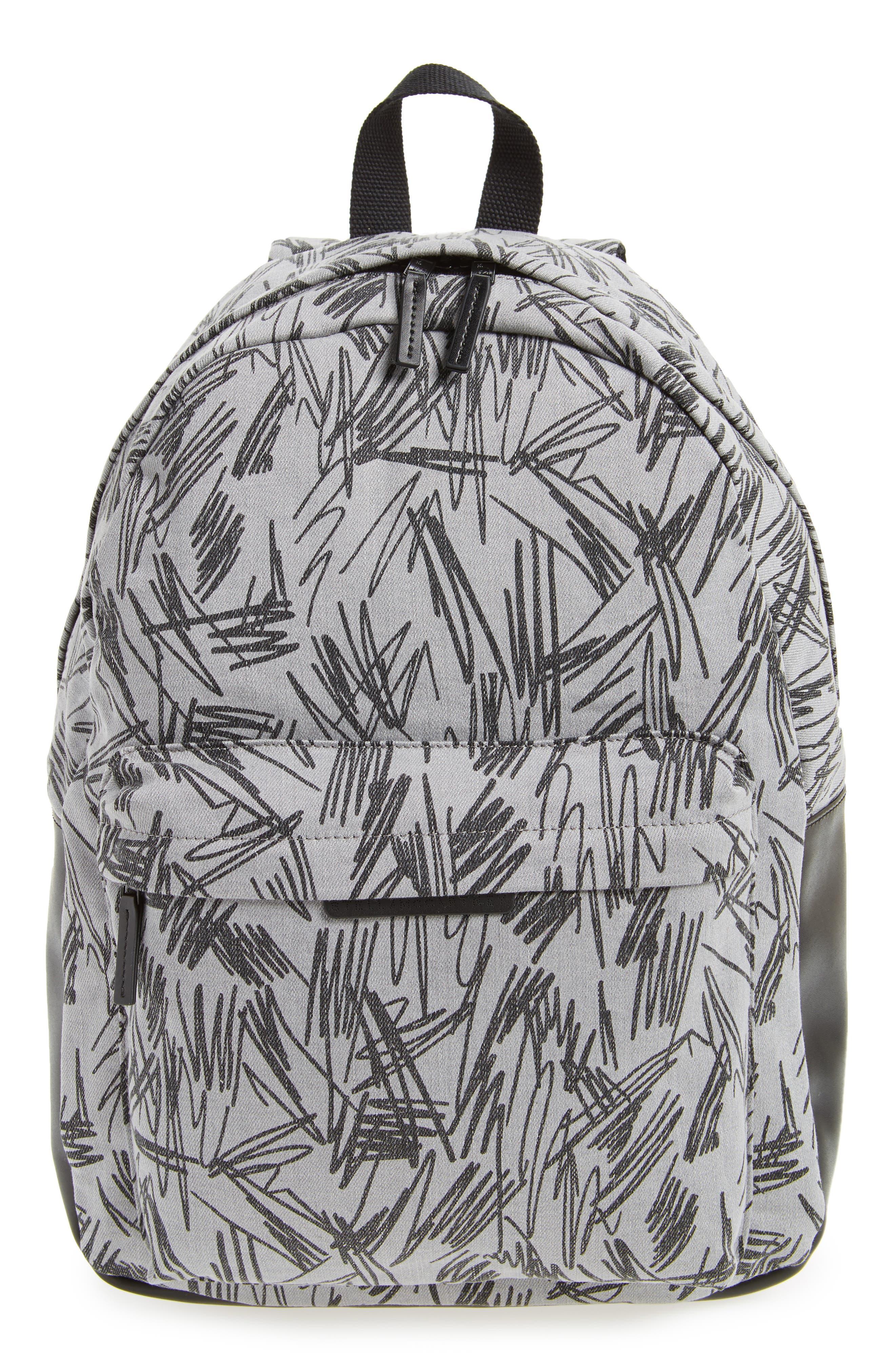 Scribble Print Backpack,                         Main,                         color, 020