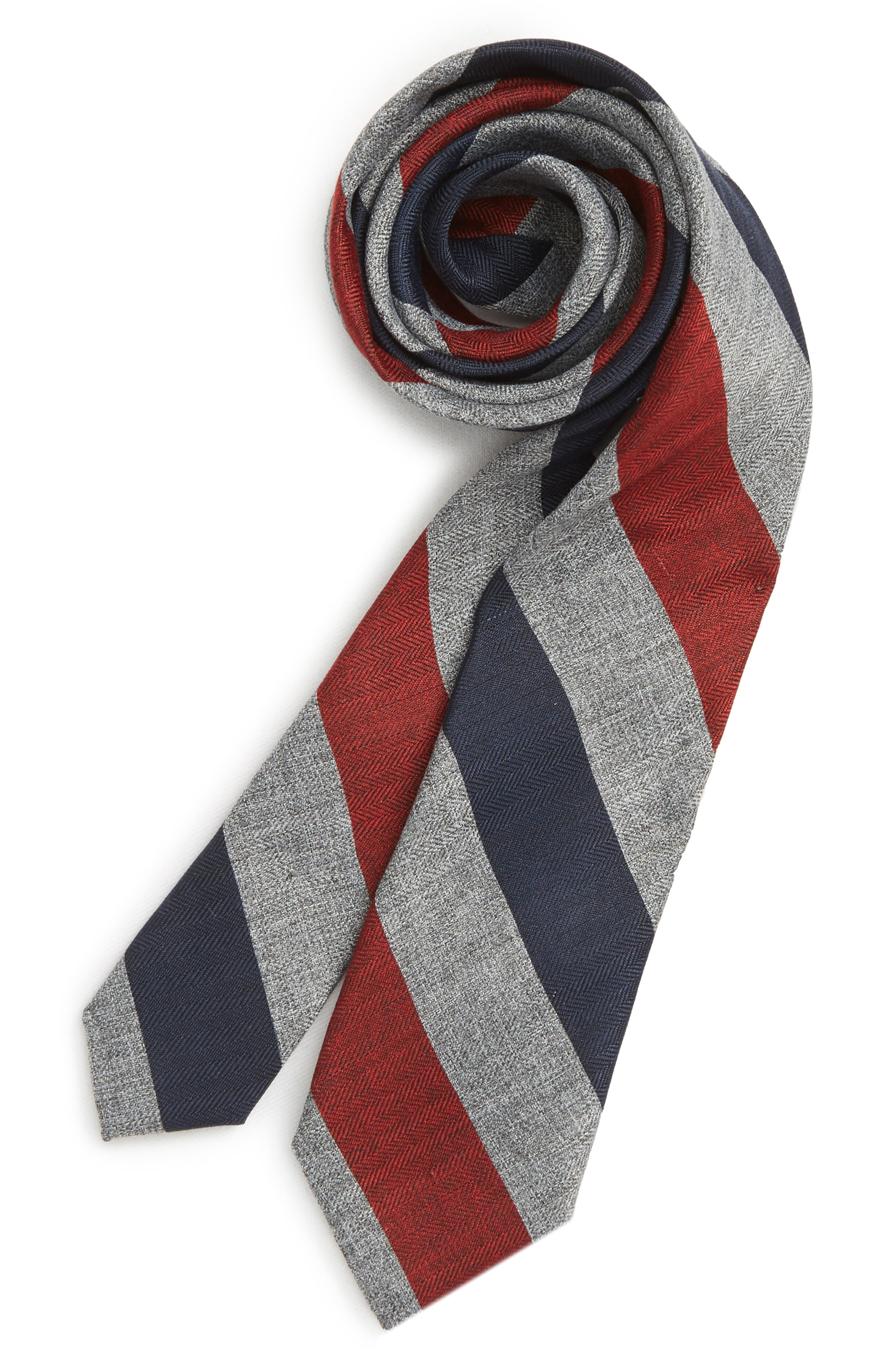 Stripe Tie,                             Main thumbnail 1, color,                             RED