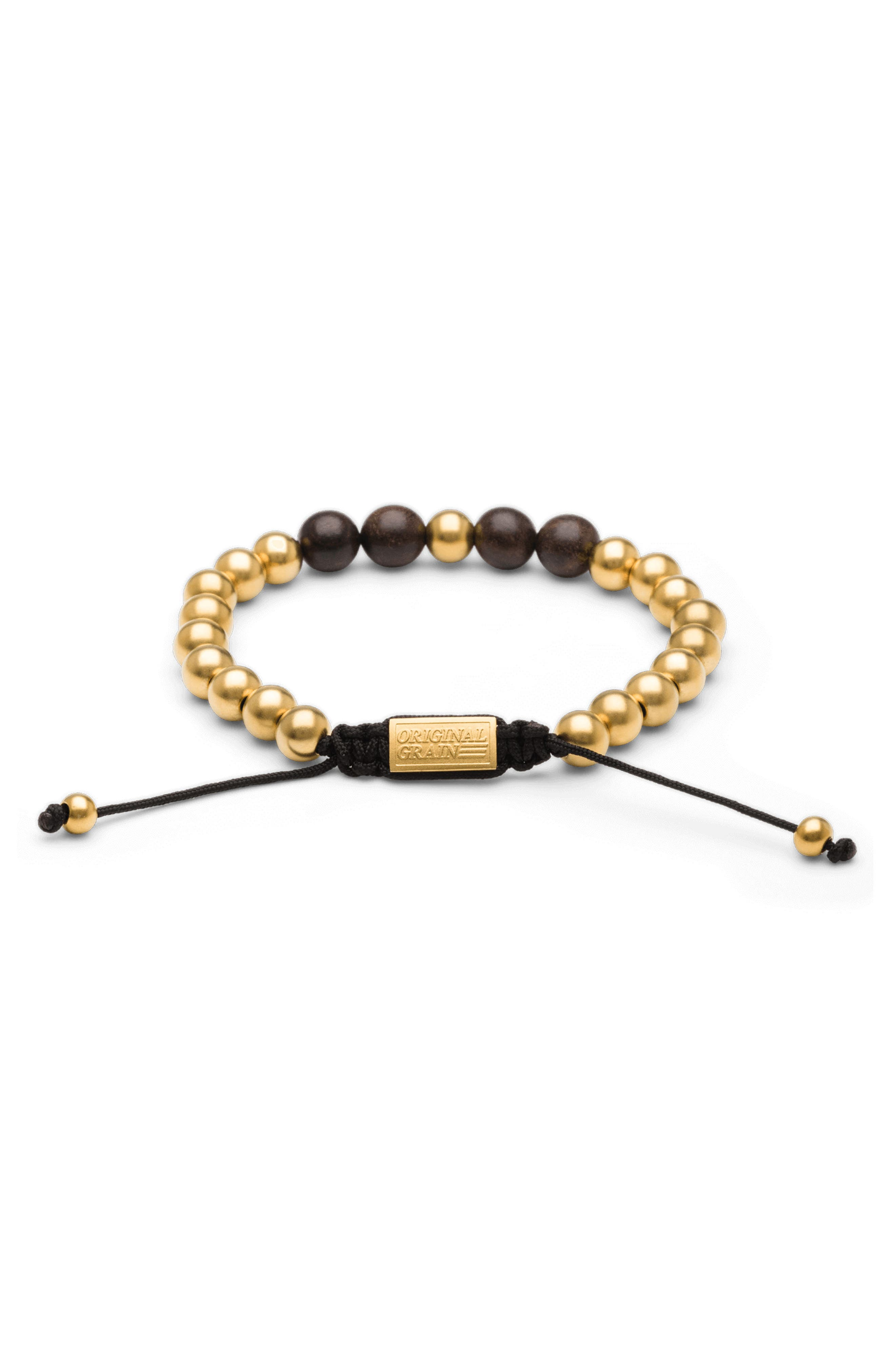 Bead Bracelet,                             Alternate thumbnail 2, color,                             EBONY GOLD
