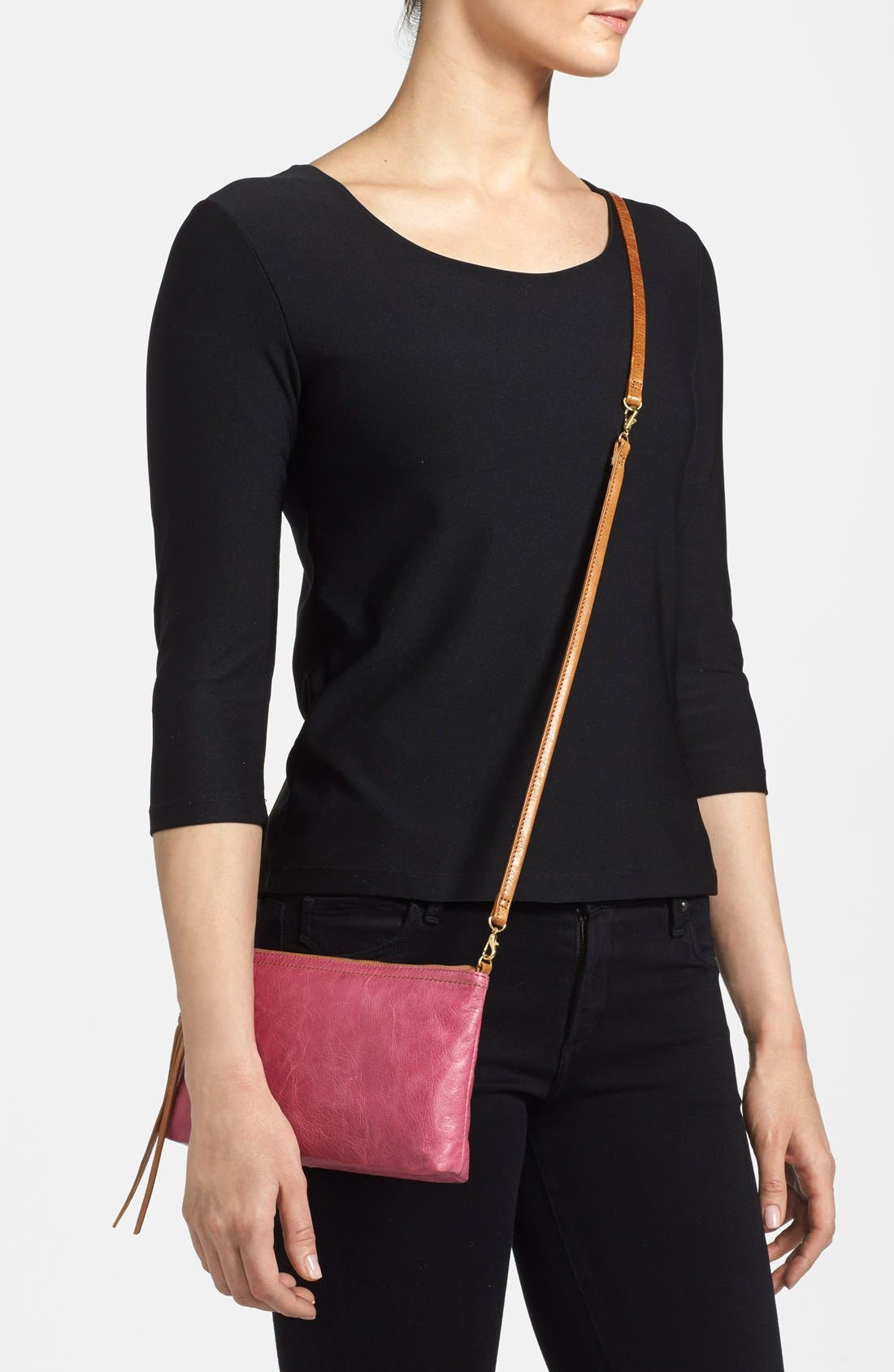 'Darcy' Leather Crossbody Bag,                             Alternate thumbnail 98, color,