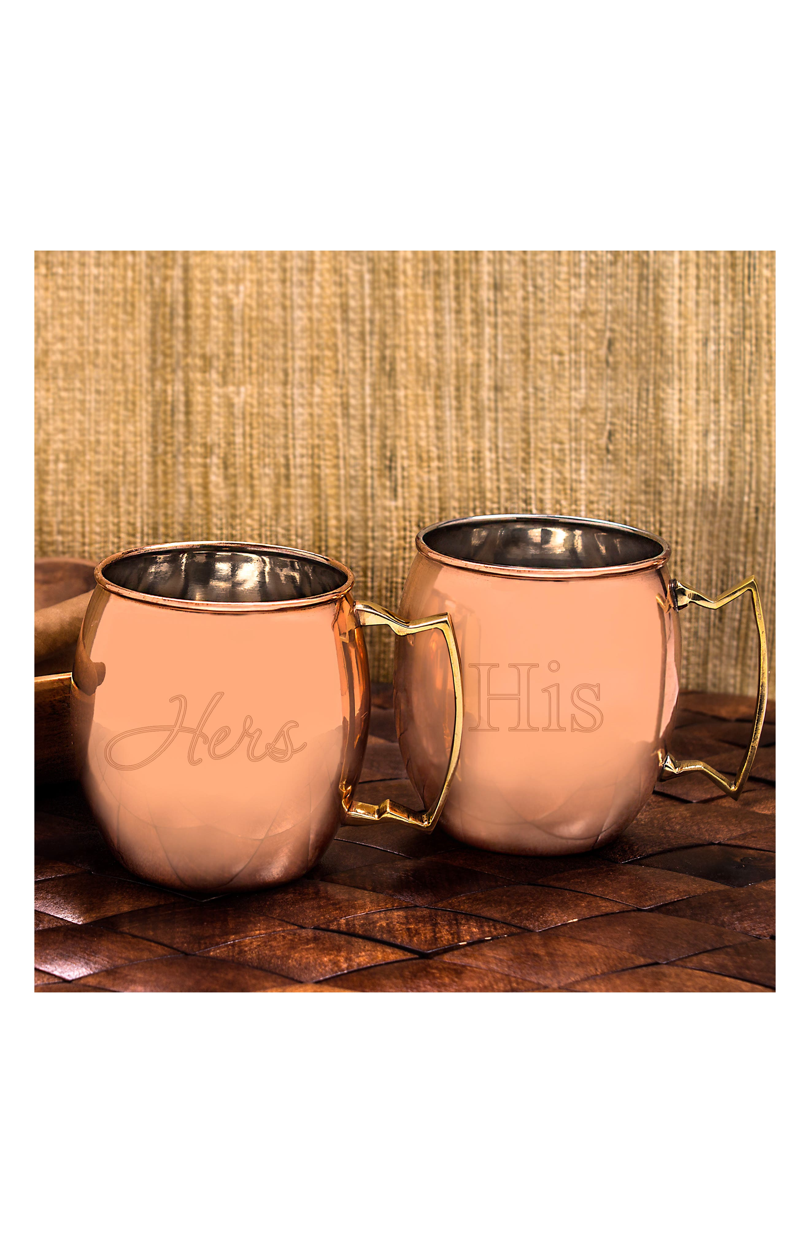 """For the Couple"" Moscow Mule Copper Mug Set,                             Alternate thumbnail 7, color,"