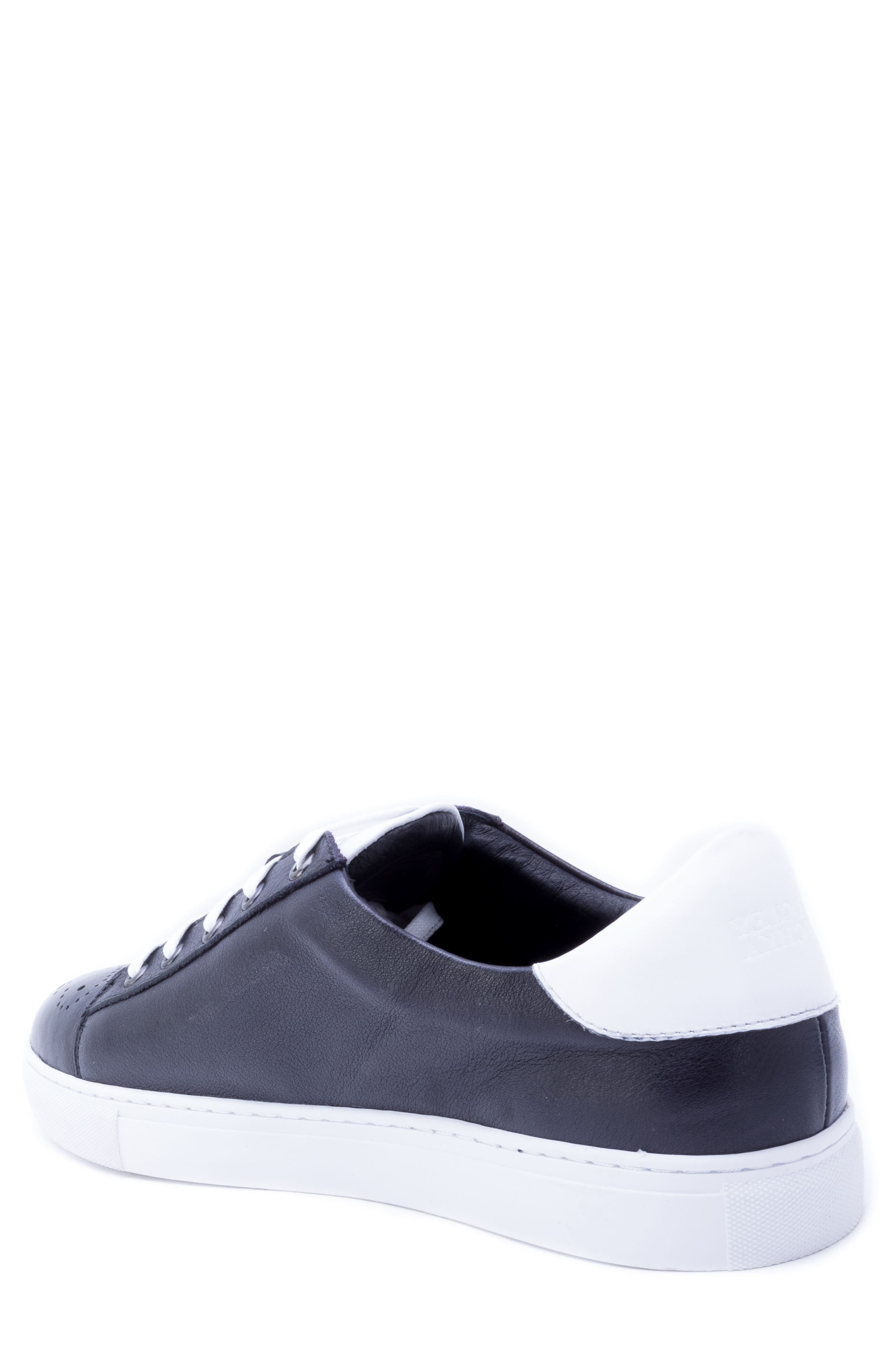 Sinatra Sneaker,                             Alternate thumbnail 2, color,                             BLACK LEATHER