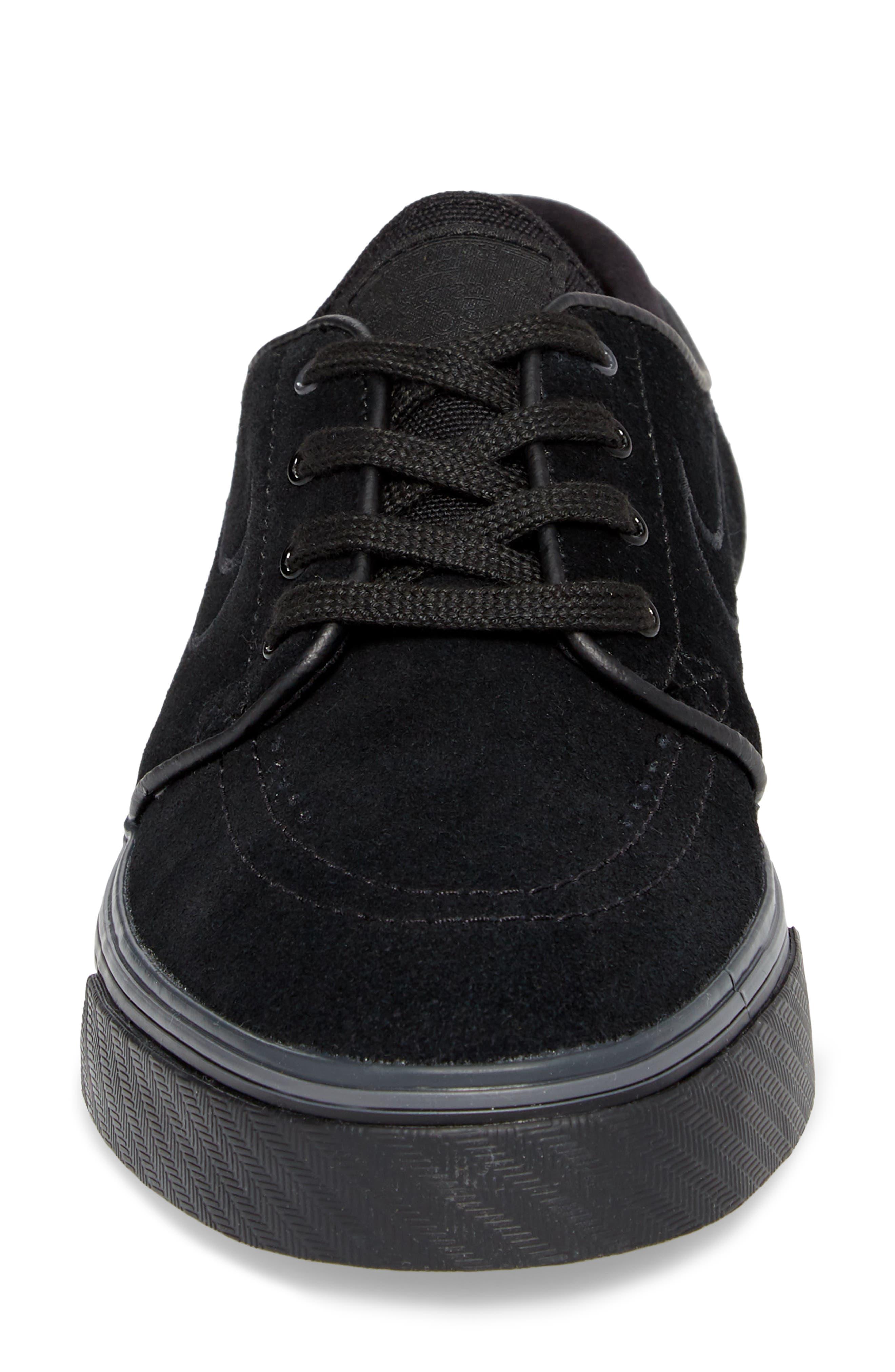 SB Air Zoom Stefan Janoski Skate Sneaker,                             Alternate thumbnail 4, color,                             BLACK/ BLACK/ BLACK