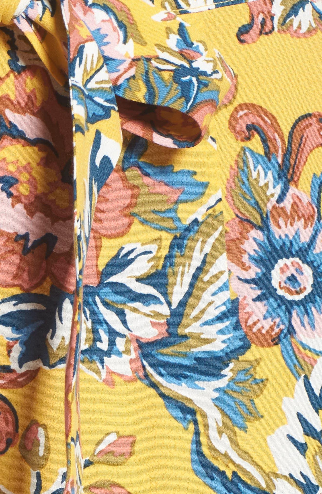Print Ruffle Shorts,                             Alternate thumbnail 5, color,