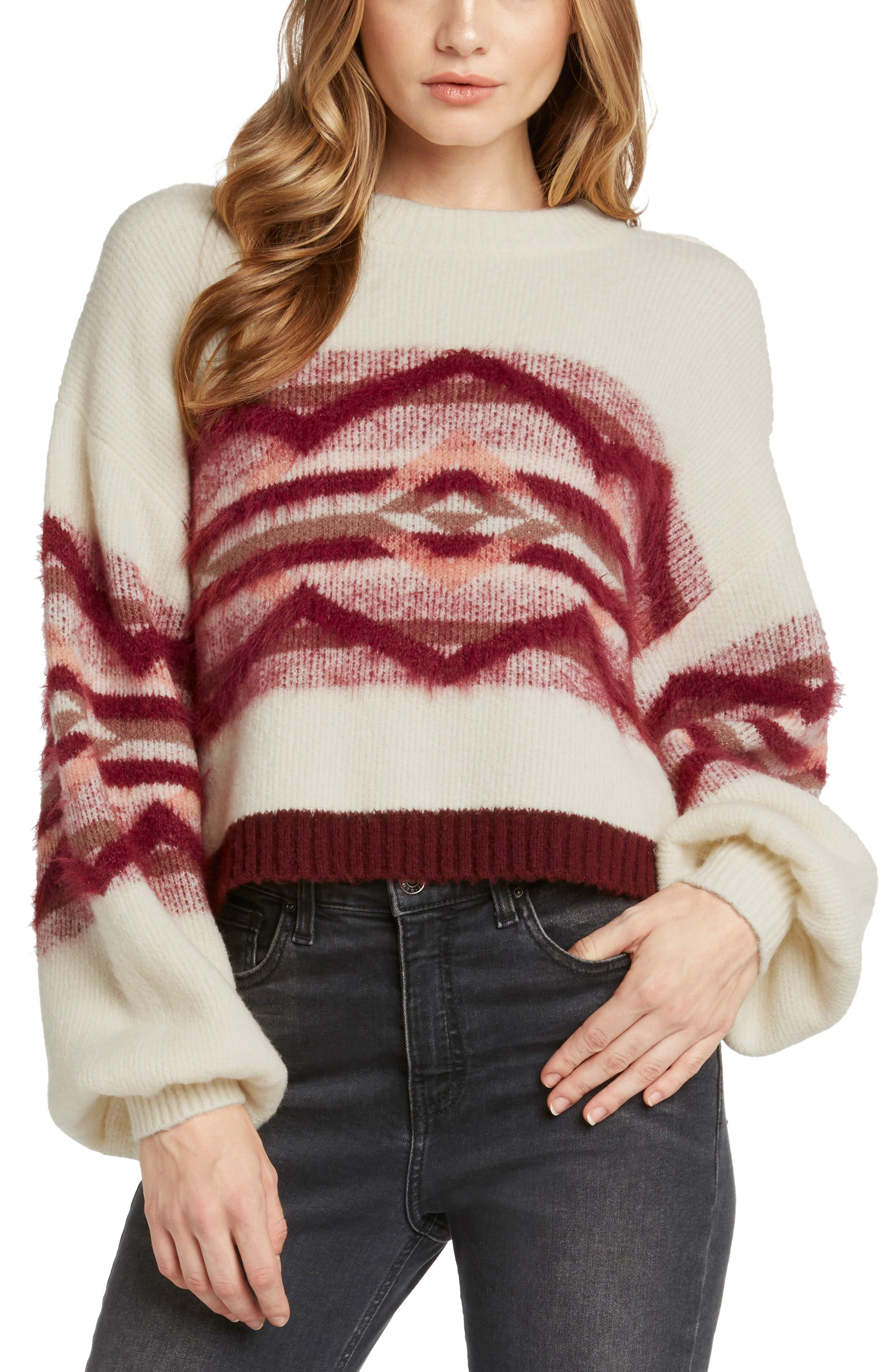 Geo Knit Sweater,                             Main thumbnail 1, color,                             900