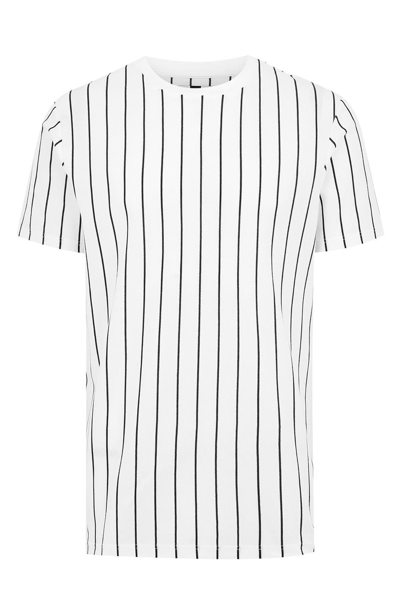 Stripe T-Shirt,                             Alternate thumbnail 4, color,                             WHITE MULTI