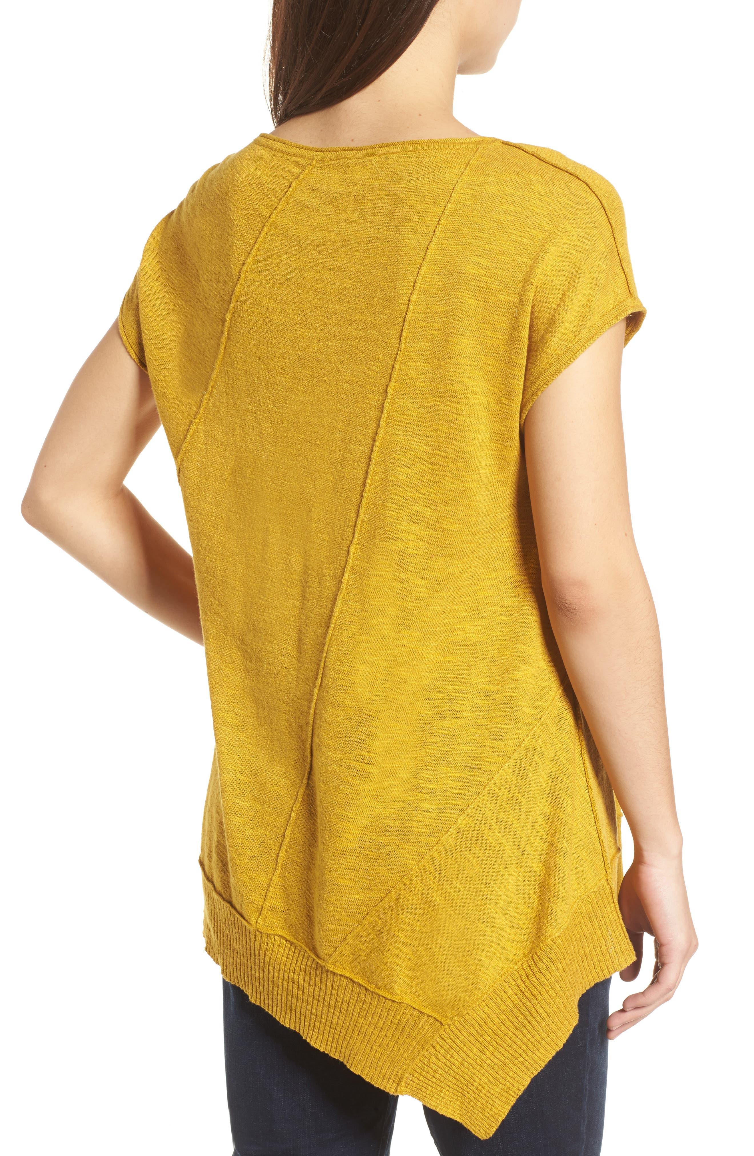 Cap Sleeve Organic Linen & Cotton Scoop Neck Top,                             Alternate thumbnail 27, color,