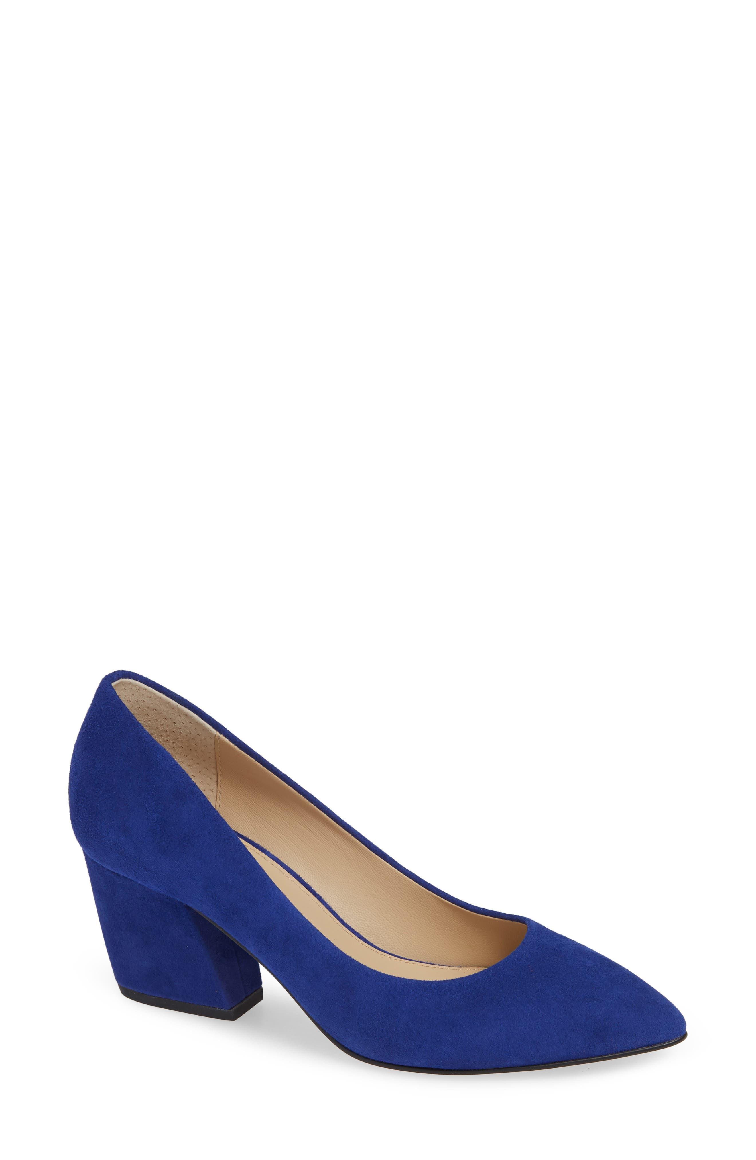 Women'S Stella Pumps in Dazzling Blue Suede