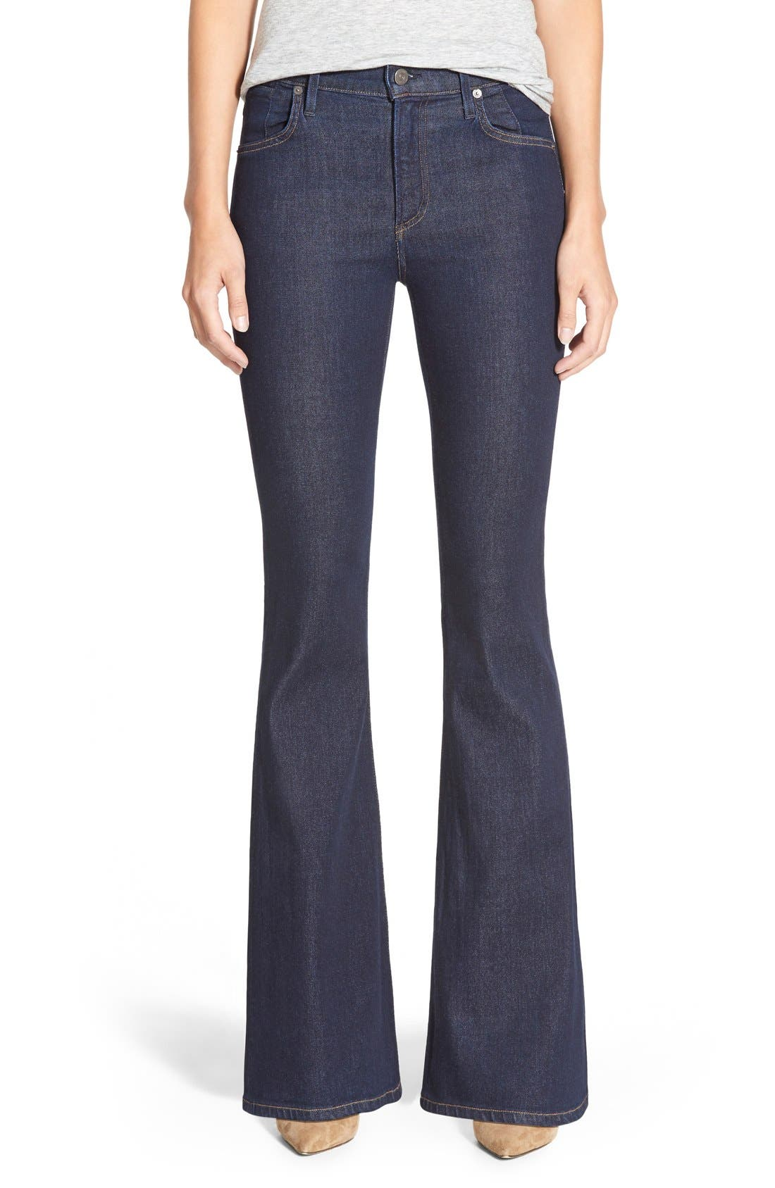 'Fleetwood' High Rise Flare Jeans,                             Main thumbnail 1, color,                             OZONE RINSE